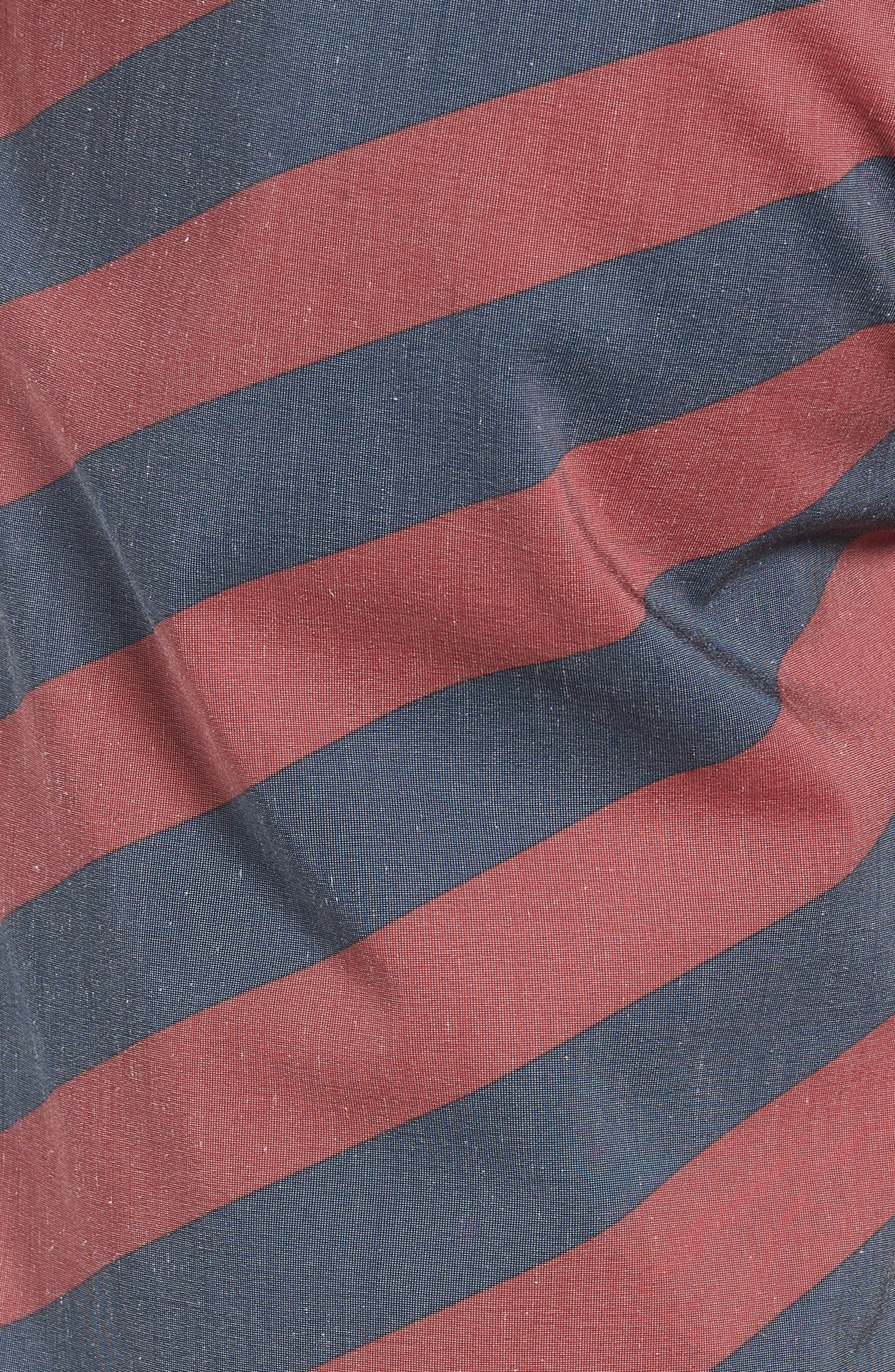 Stripey Stoney Boardshorts,                             Alternate thumbnail 5, color,                             RUST