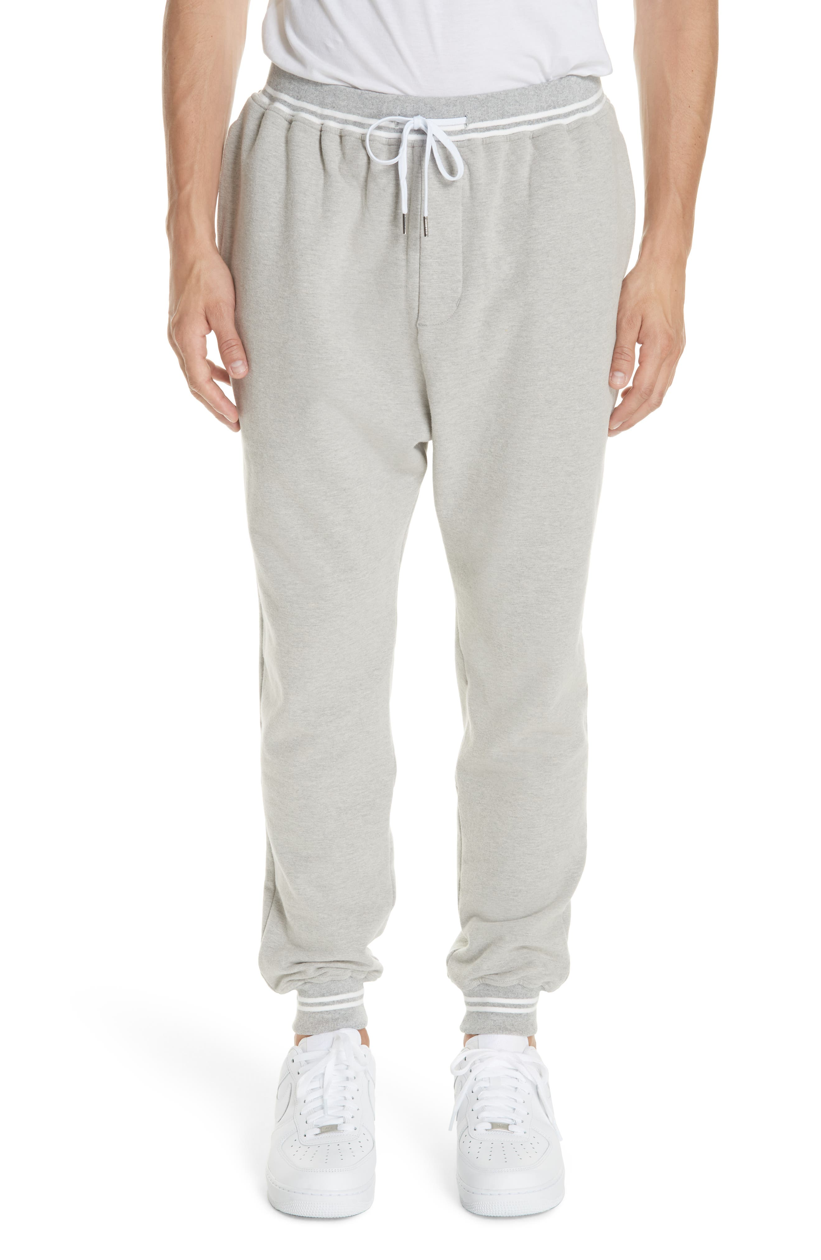 STAMPD Classic Jogger Pants in Heather Grey