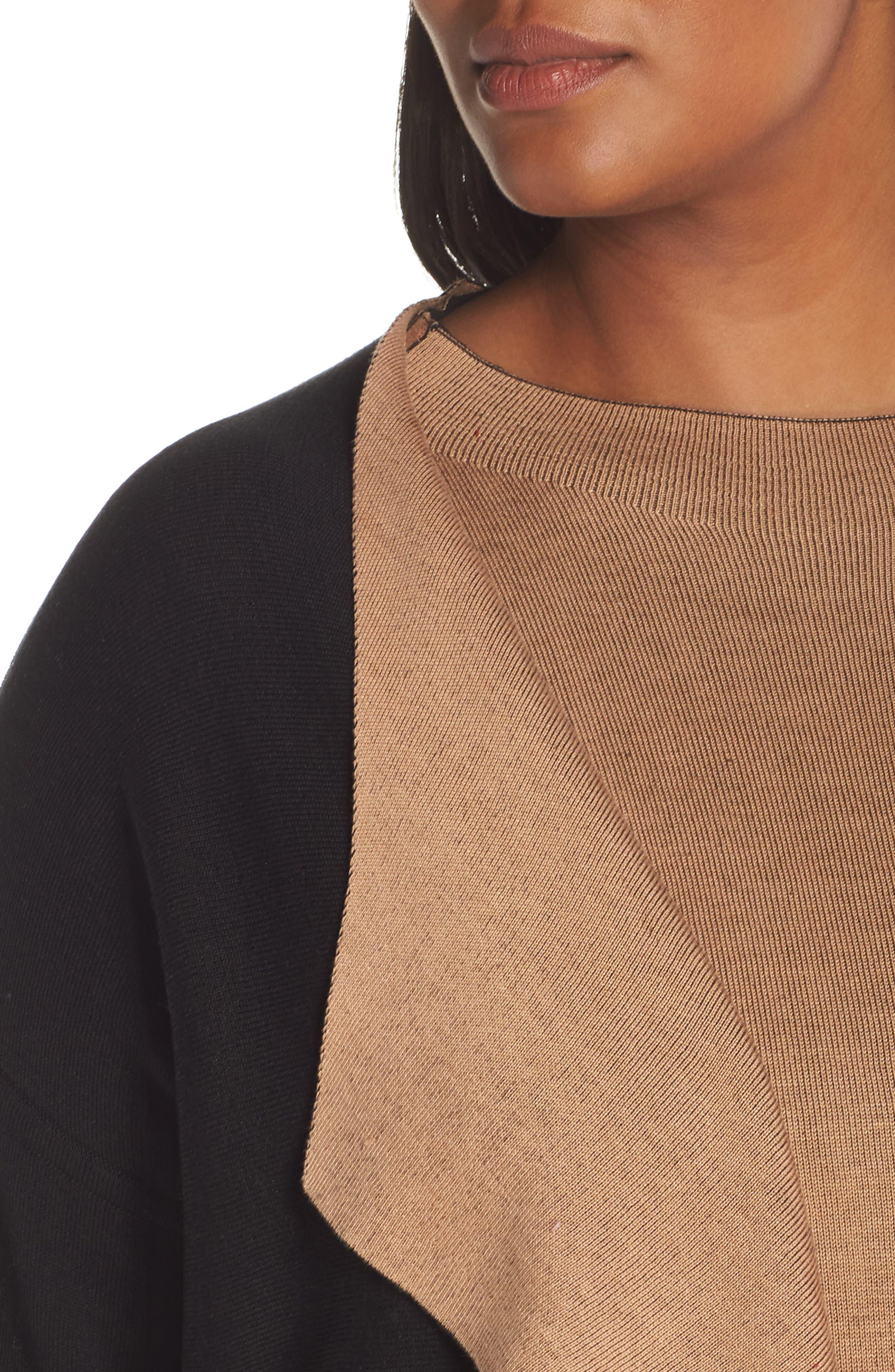 Reversible Silk Blend Cardigan,                             Alternate thumbnail 11, color,                             BLACK/ CLAY