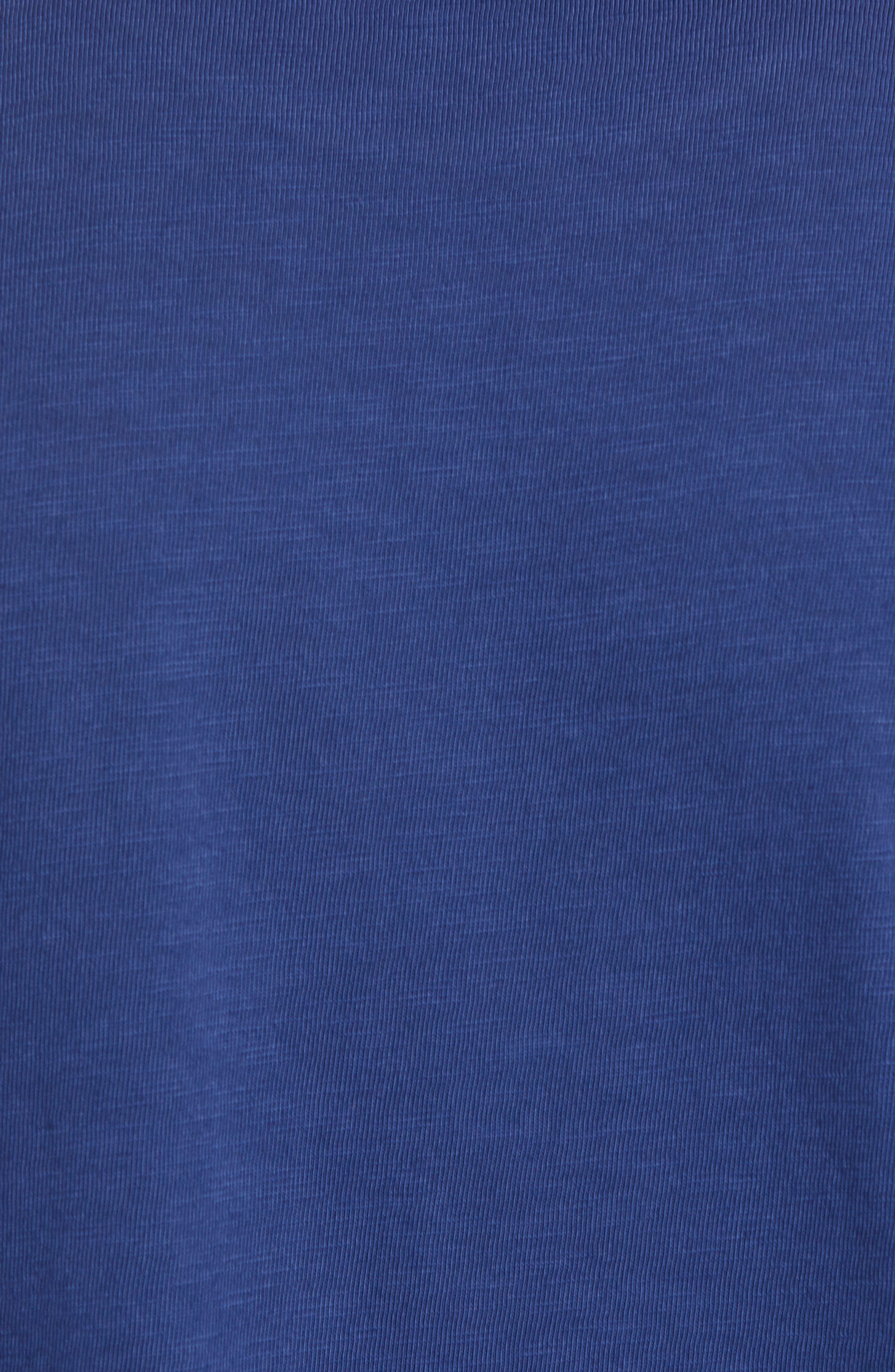 Scallop Hem Slub Crewneck T-Shirt,                             Alternate thumbnail 5, color,                             GOODLIFE NAVY