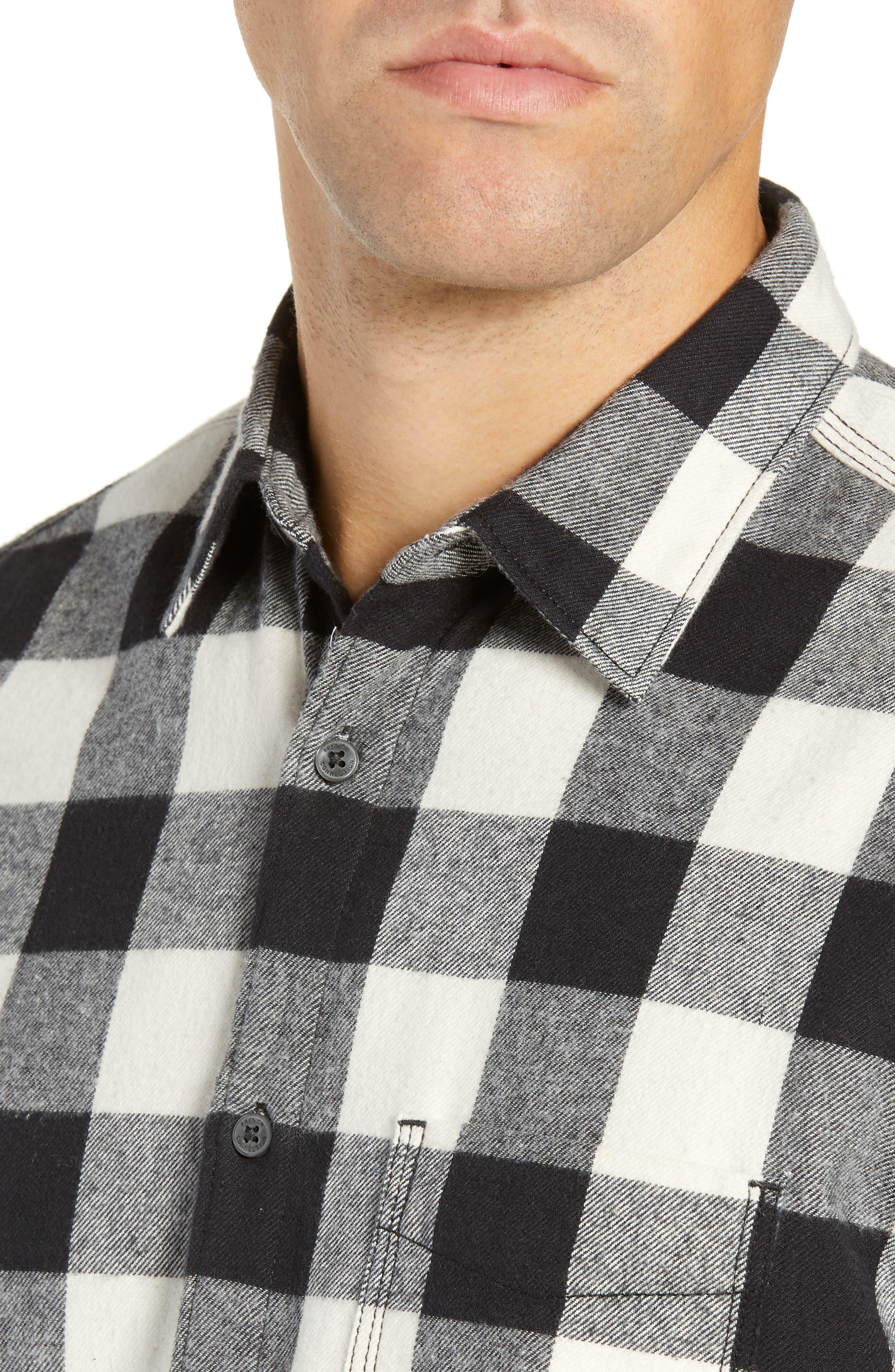 Kahama Regular Fit Flannel Sport Shirt,                             Alternate thumbnail 2, color,                             BLACK WHITECAP GREY