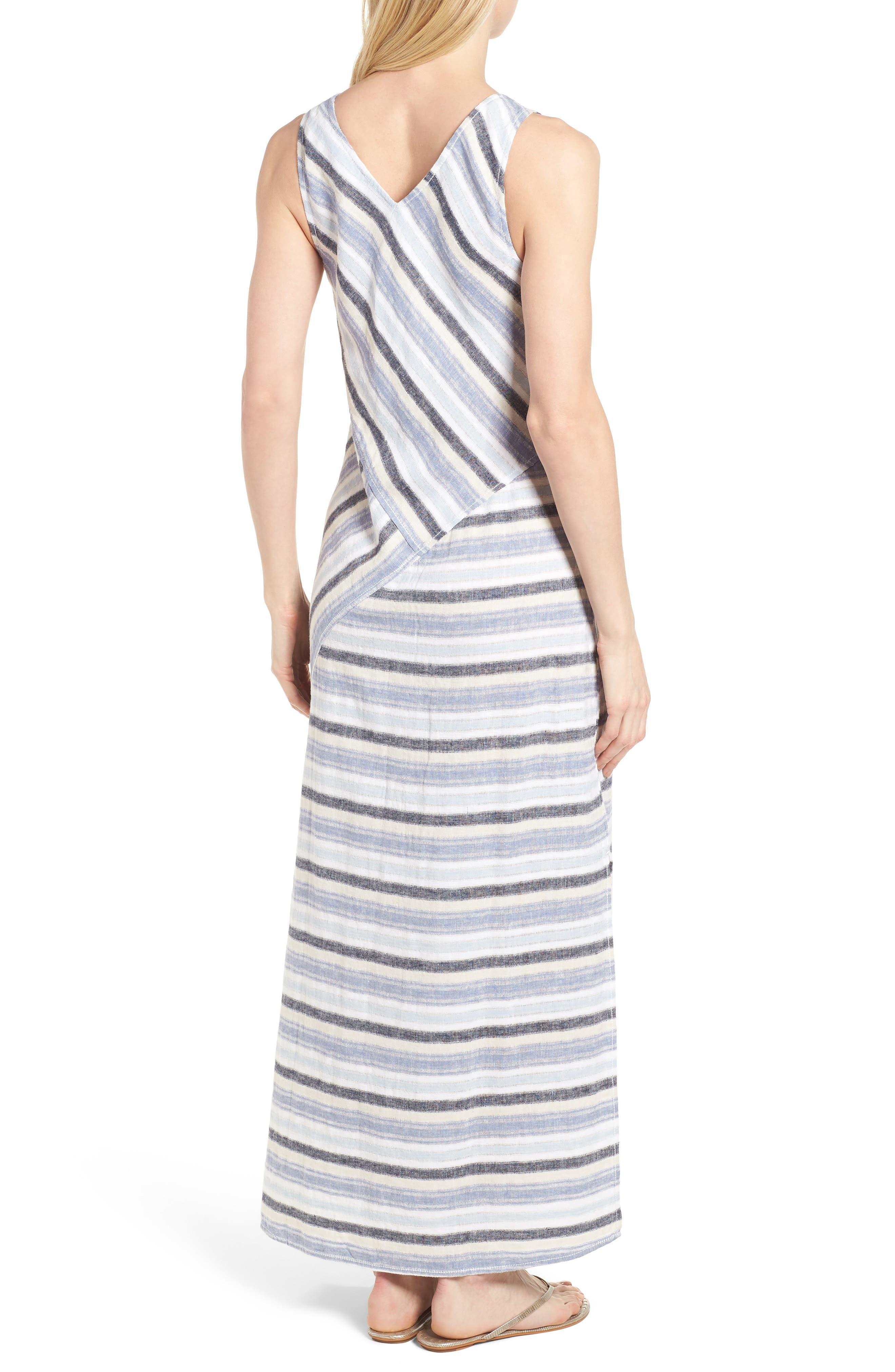 Stripe A-Line Maxi Dress,                             Alternate thumbnail 2, color,                             420
