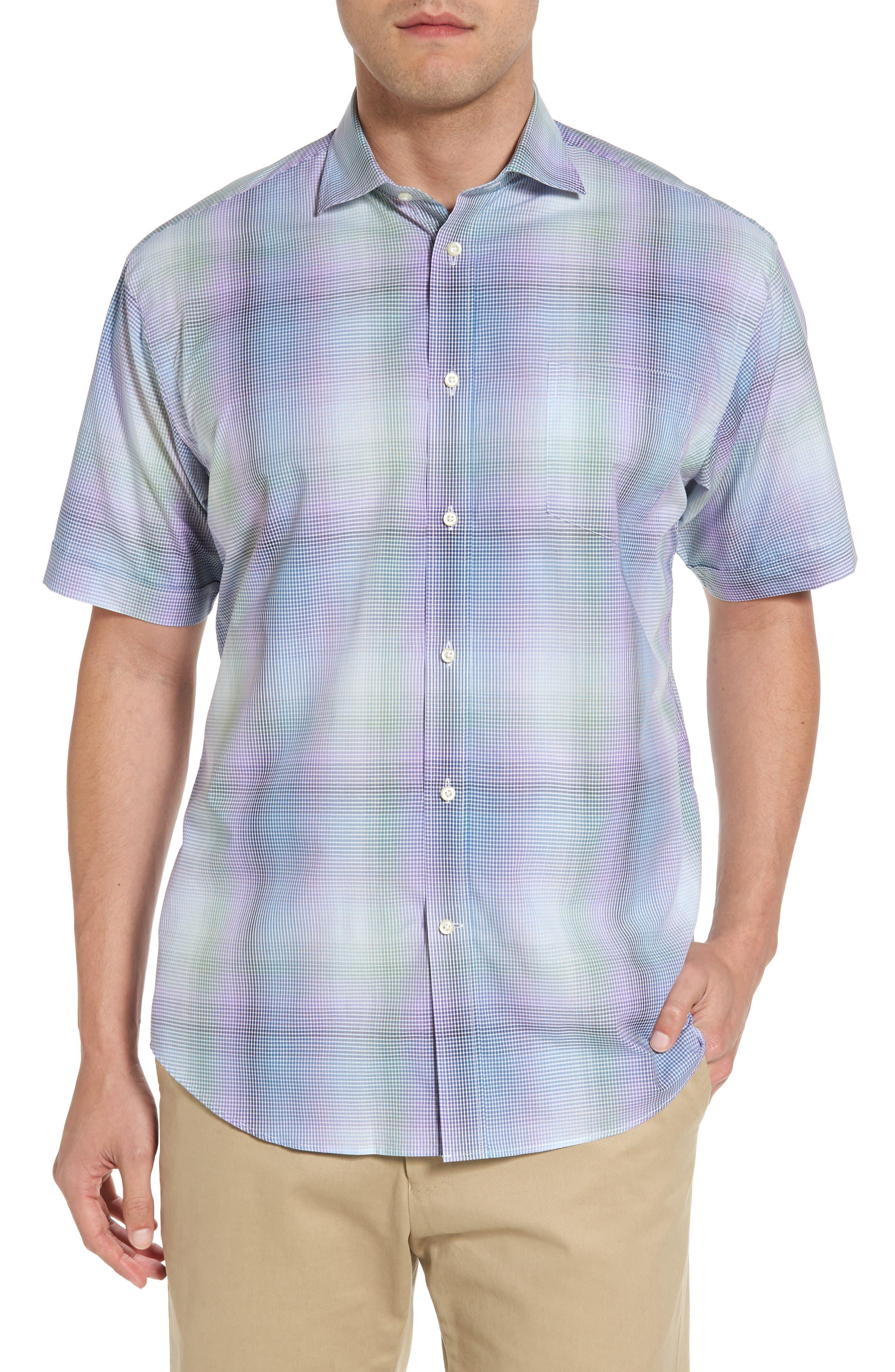 Classic Fit Shadow Check Sport Shirt,                             Main thumbnail 1, color,                             500