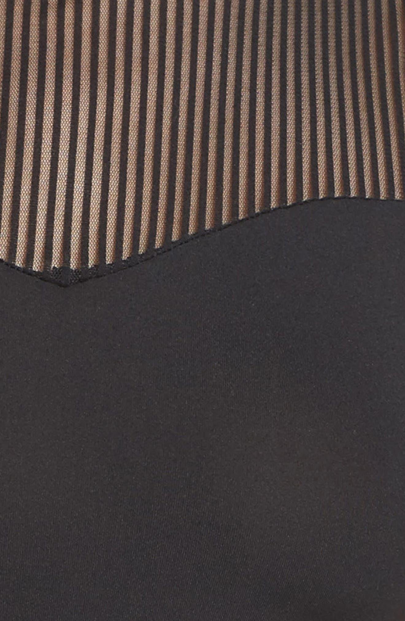 Crop Top Bralette & Panties,                             Alternate thumbnail 5, color,                             001