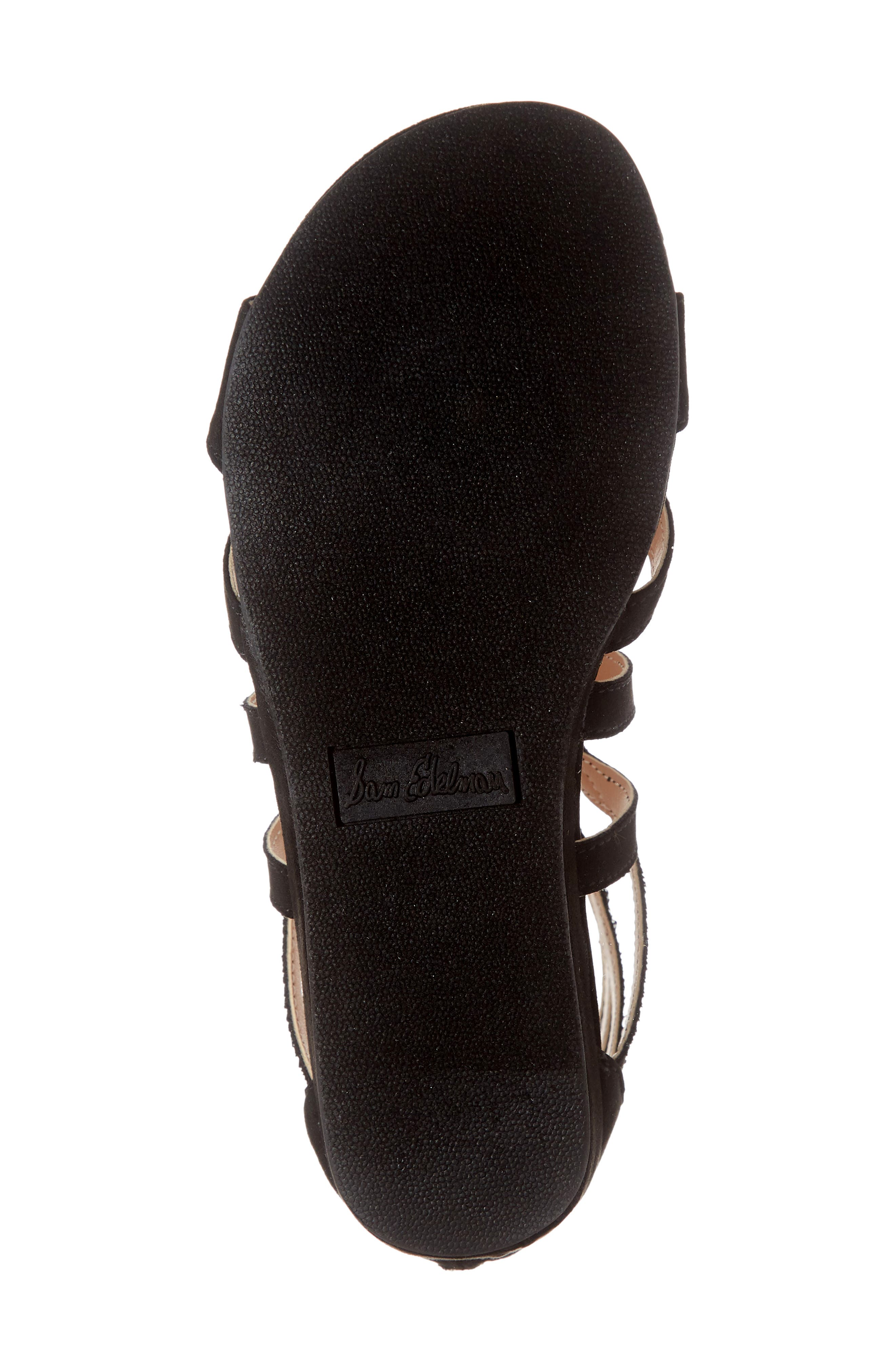 SAM EDELMAN,                             Danica Kalisa Gladiator Sandal,                             Alternate thumbnail 6, color,                             BLACK