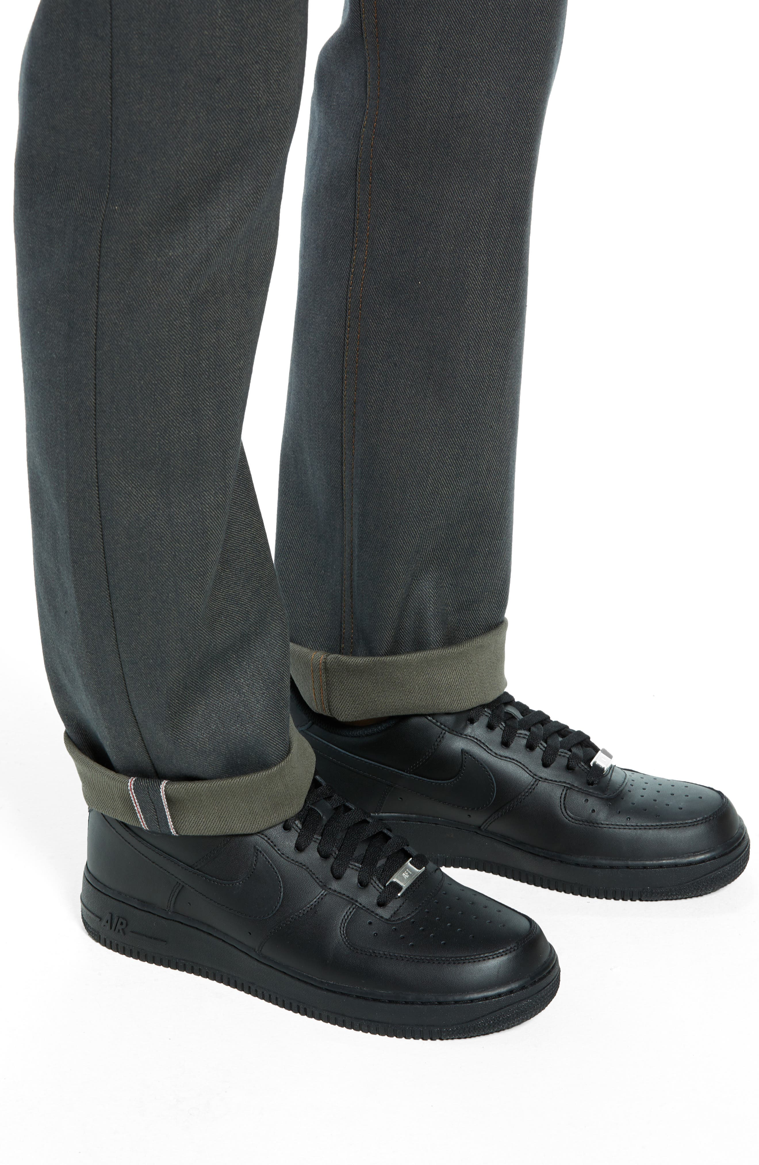 Weird Guy Slim Fit Jeans,                             Alternate thumbnail 4, color,                             HUNTER STRETCH SELVEDGE