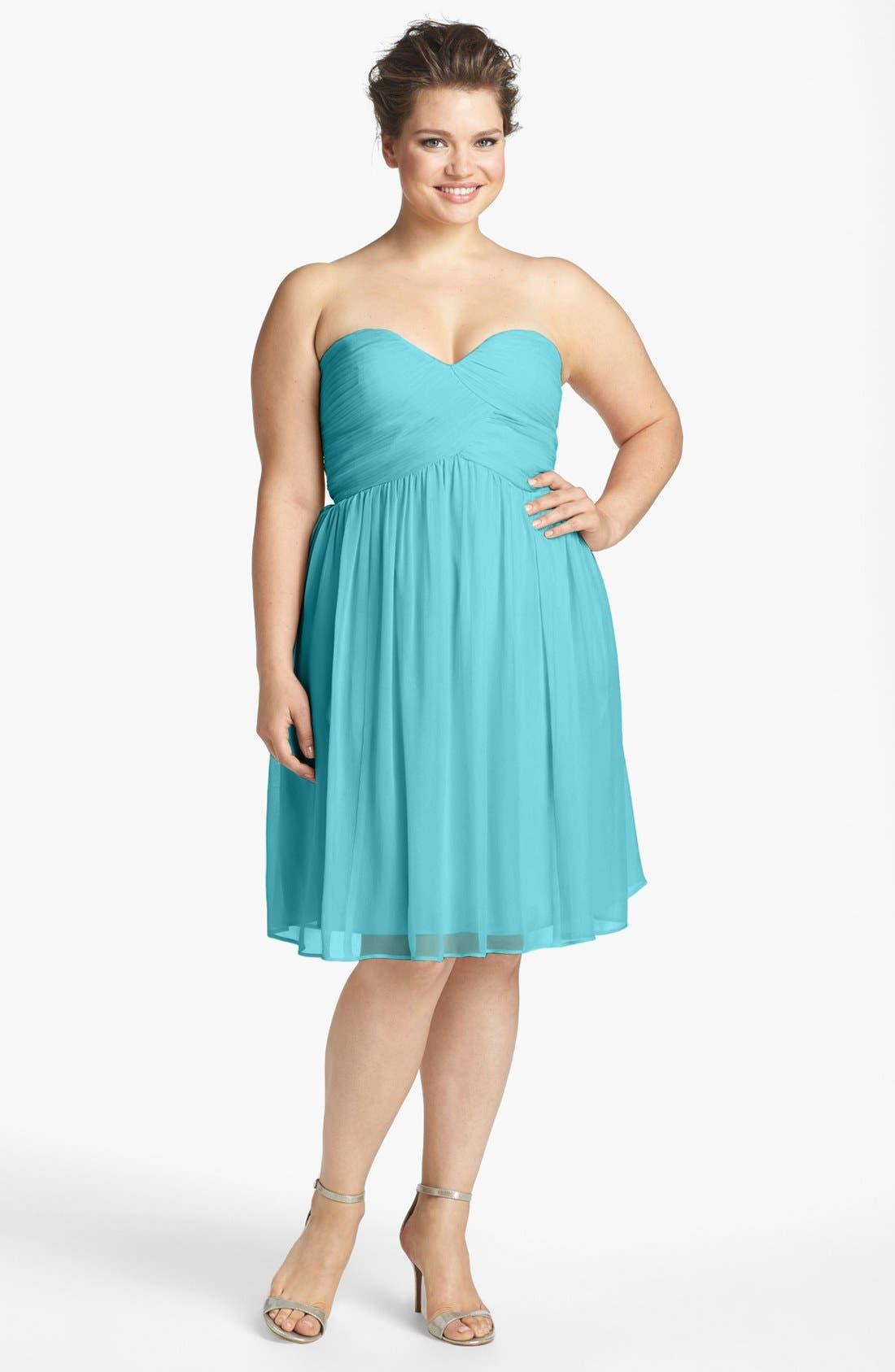 'Morgan' Strapless Silk Chiffon Dress,                             Alternate thumbnail 112, color,