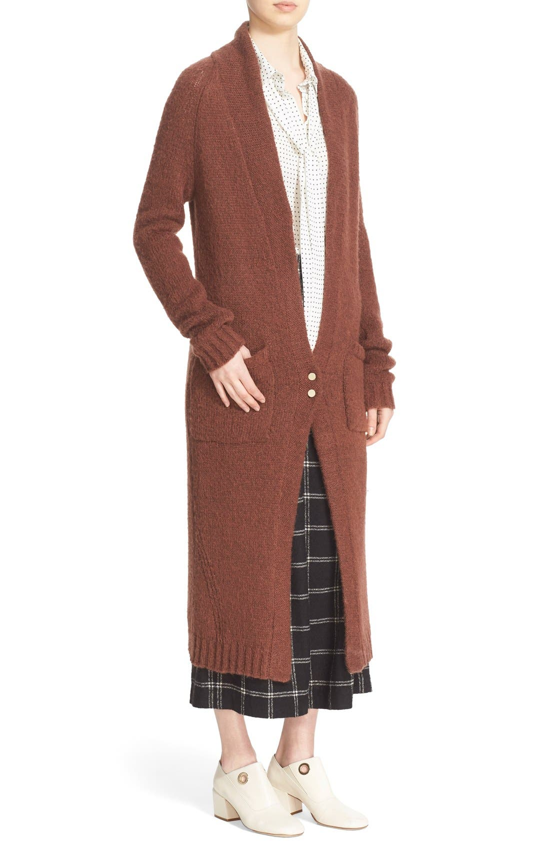 Two-Button Long Cardigan,                             Alternate thumbnail 5, color,                             200