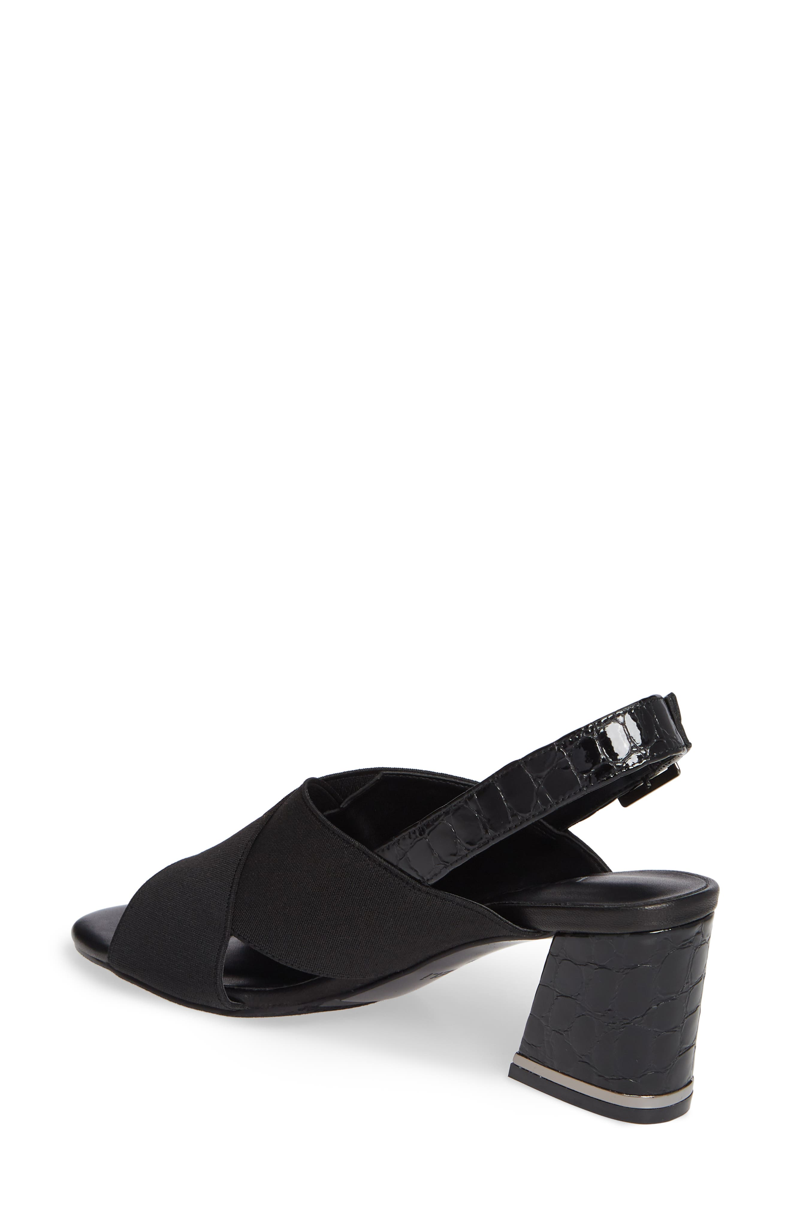 Bamba Slingback Sandal,                             Alternate thumbnail 2, color,                             BLACK