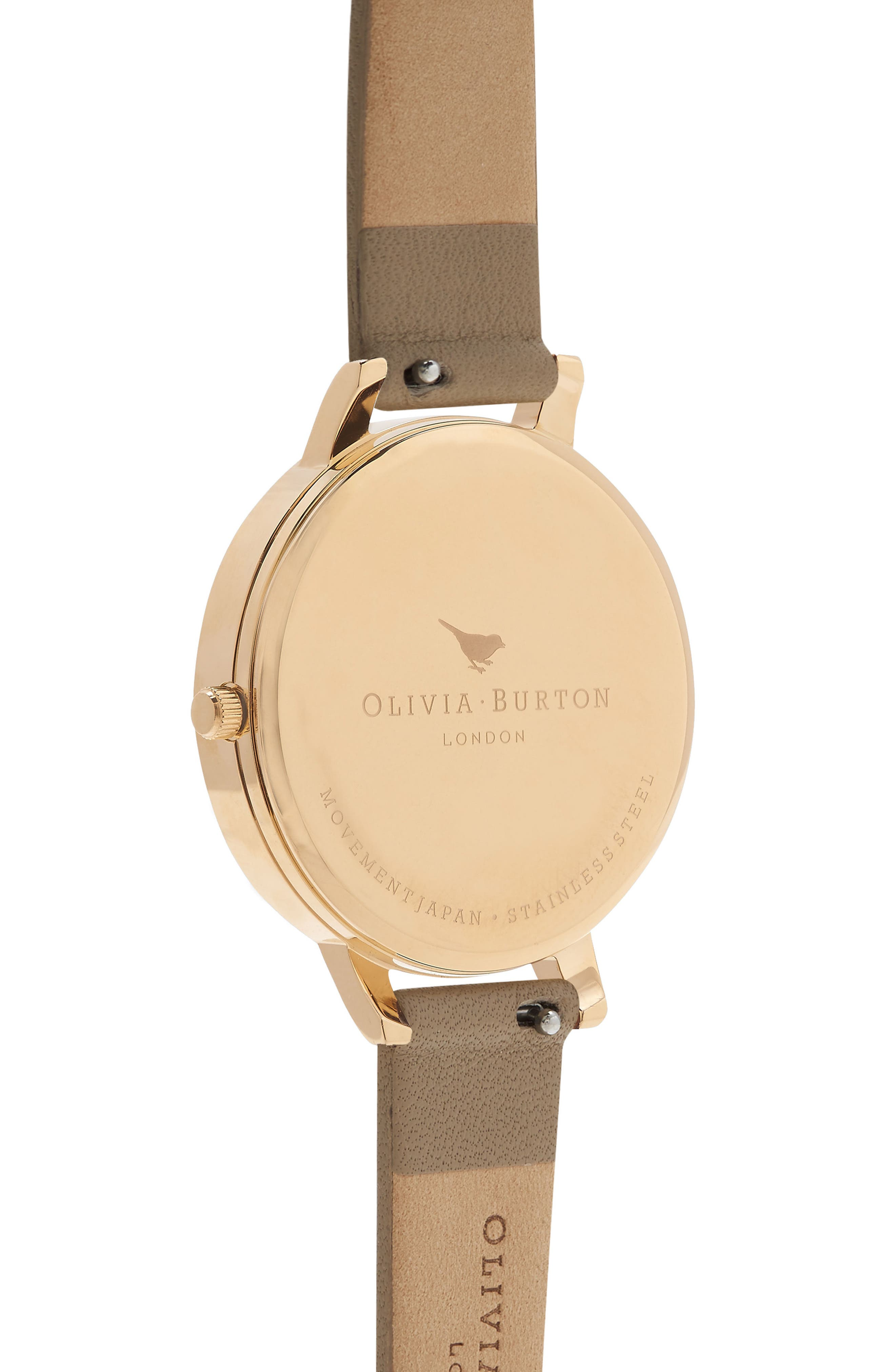 Leather Strap Watch, 38mm,                             Alternate thumbnail 2, color,                             SAND/ WHITE/ GOLD