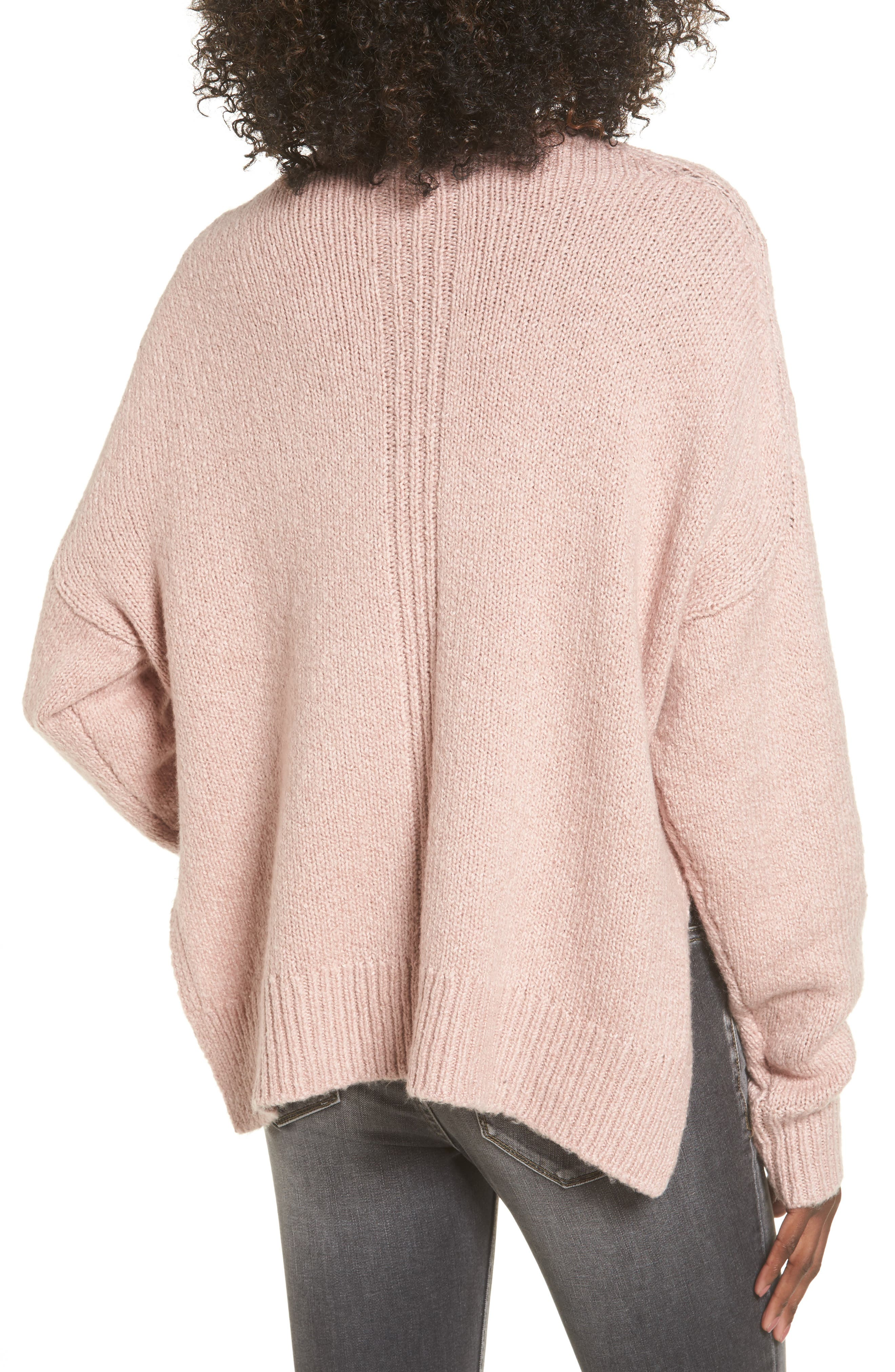 Fuzzy Side Slit Sweater,                             Alternate thumbnail 6, color,