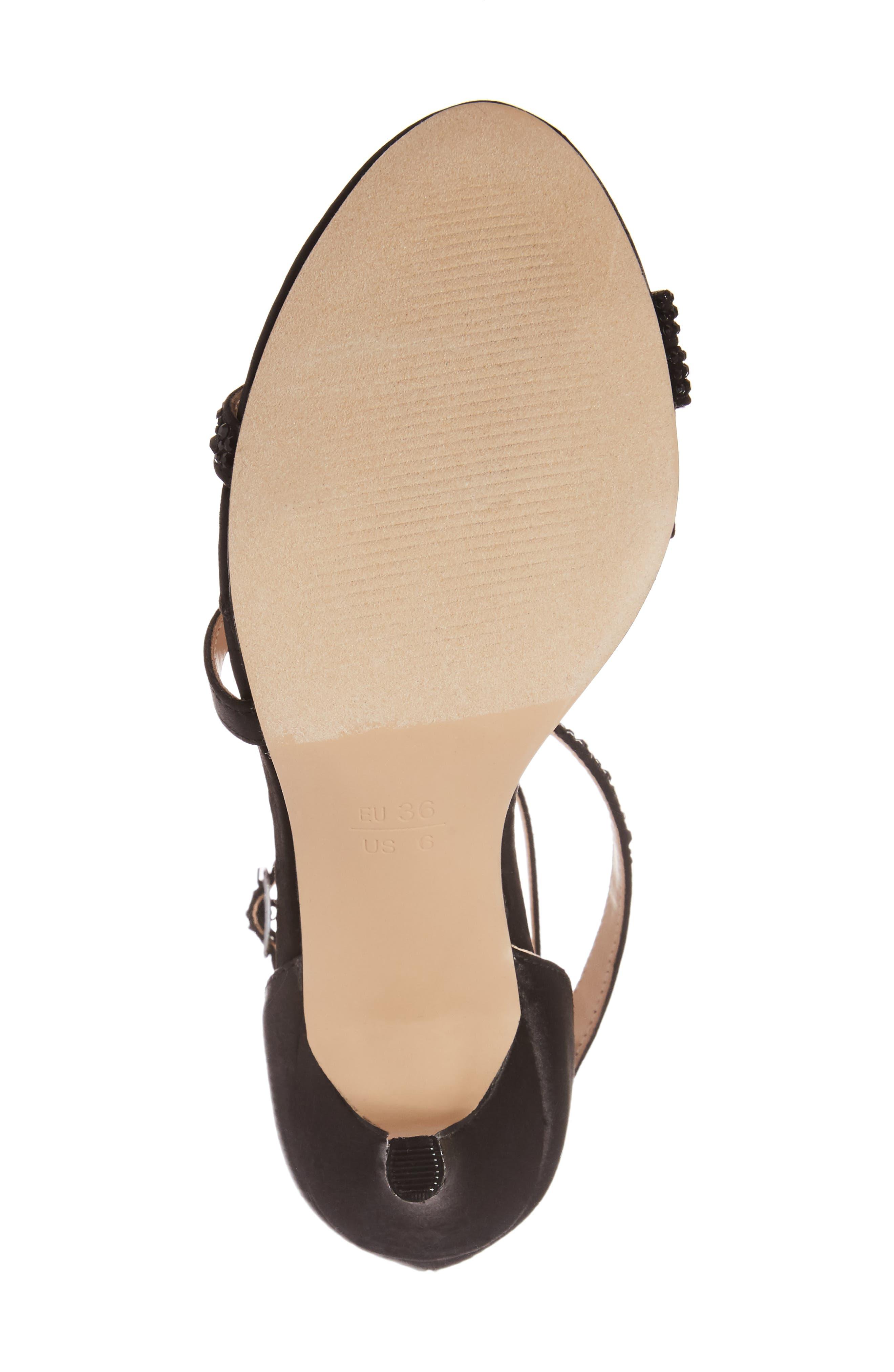 McKayla Embellished Serpentine Sandal,                             Alternate thumbnail 6, color,                             001
