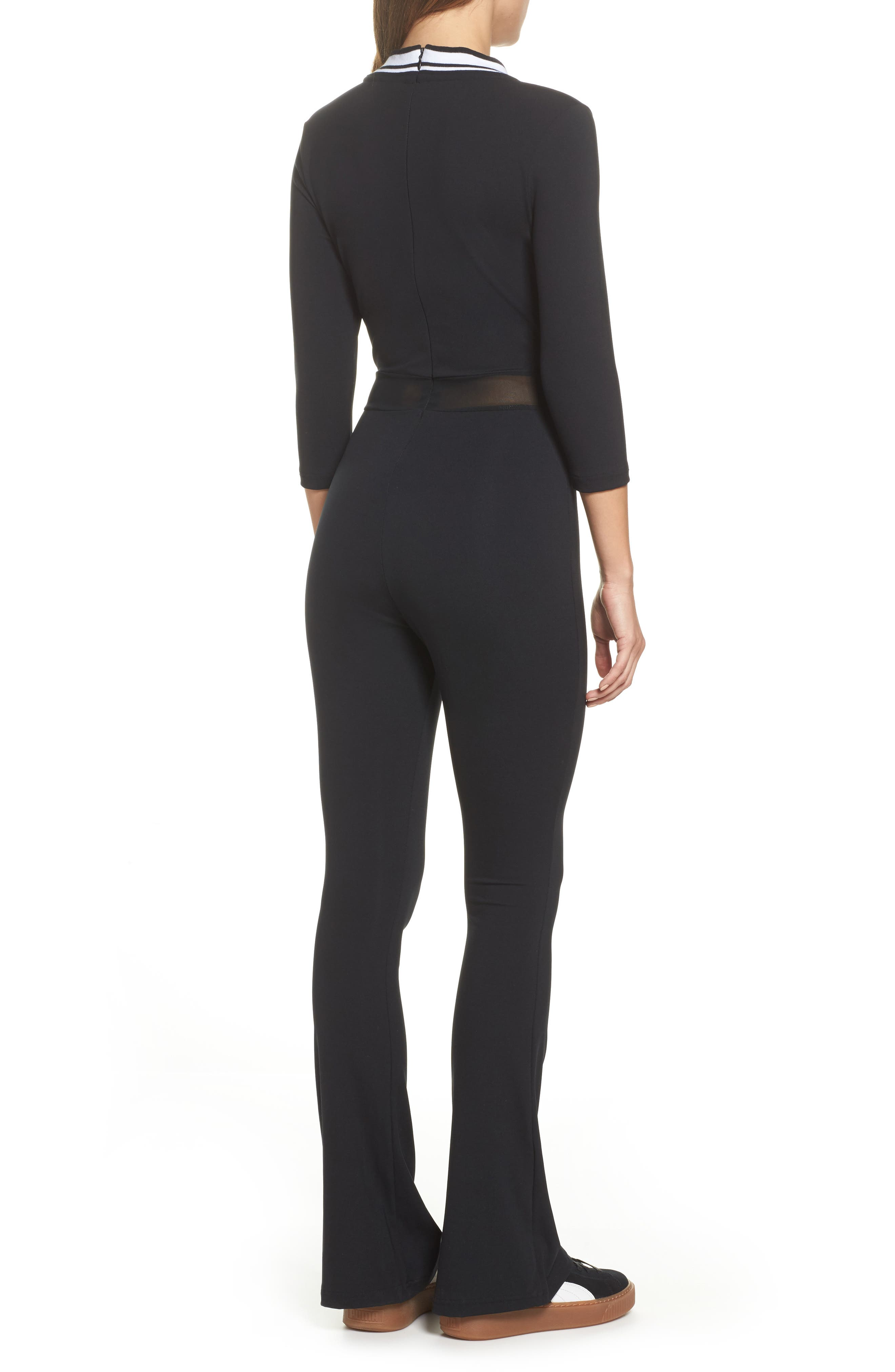 V-Neck Jumpsuit,                             Alternate thumbnail 2, color,                             001