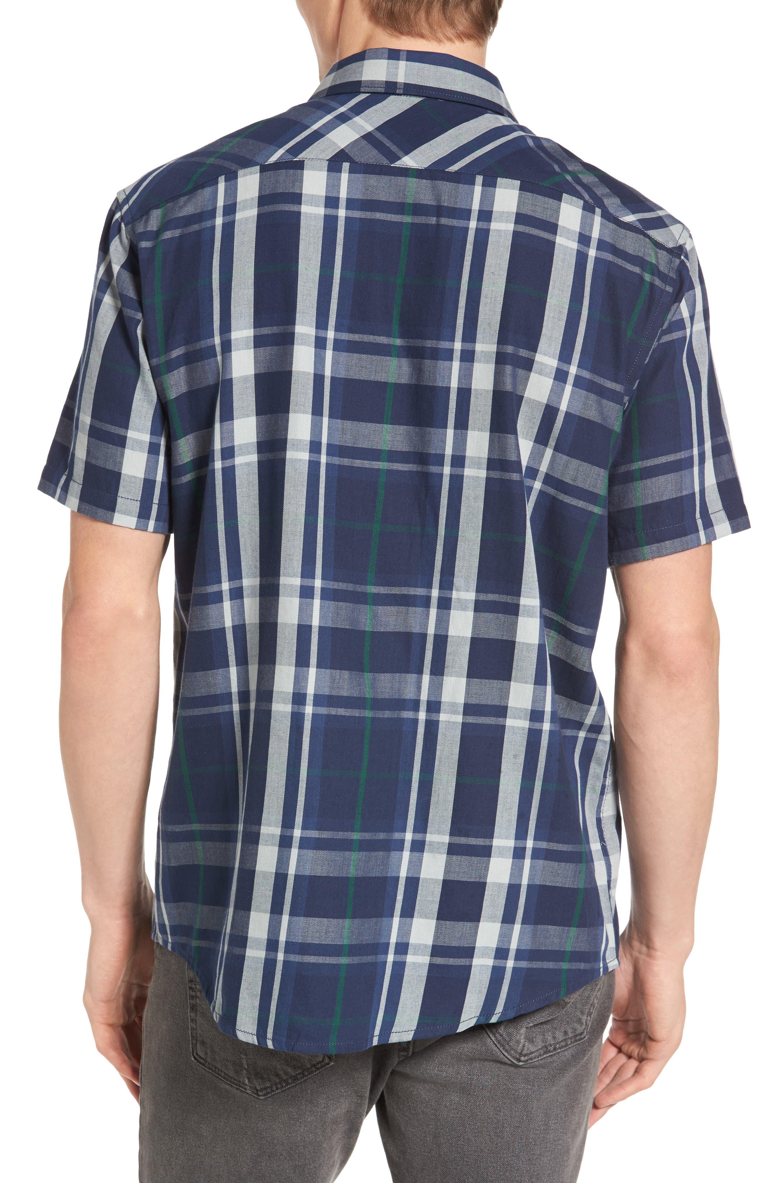 Waas 2 Plaid Woven Shirt,                             Alternate thumbnail 4, color,