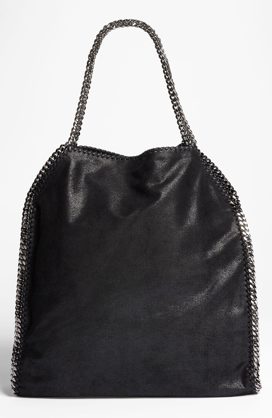 STELLA MCCARTNEY,                             'Large Falabella - Shaggy Deer' Faux Leather Tote,                             Alternate thumbnail 3, color,                             001