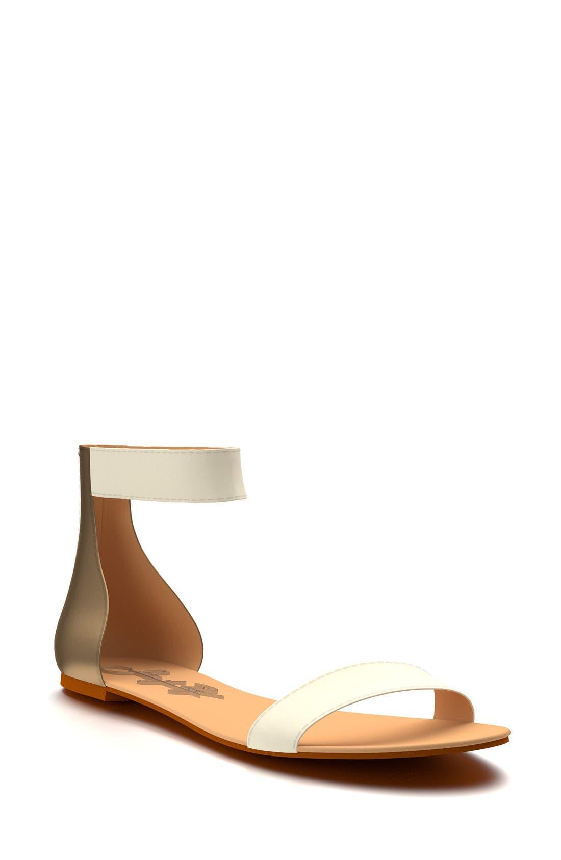 Ankle Strap Sandal,                             Main thumbnail 4, color,