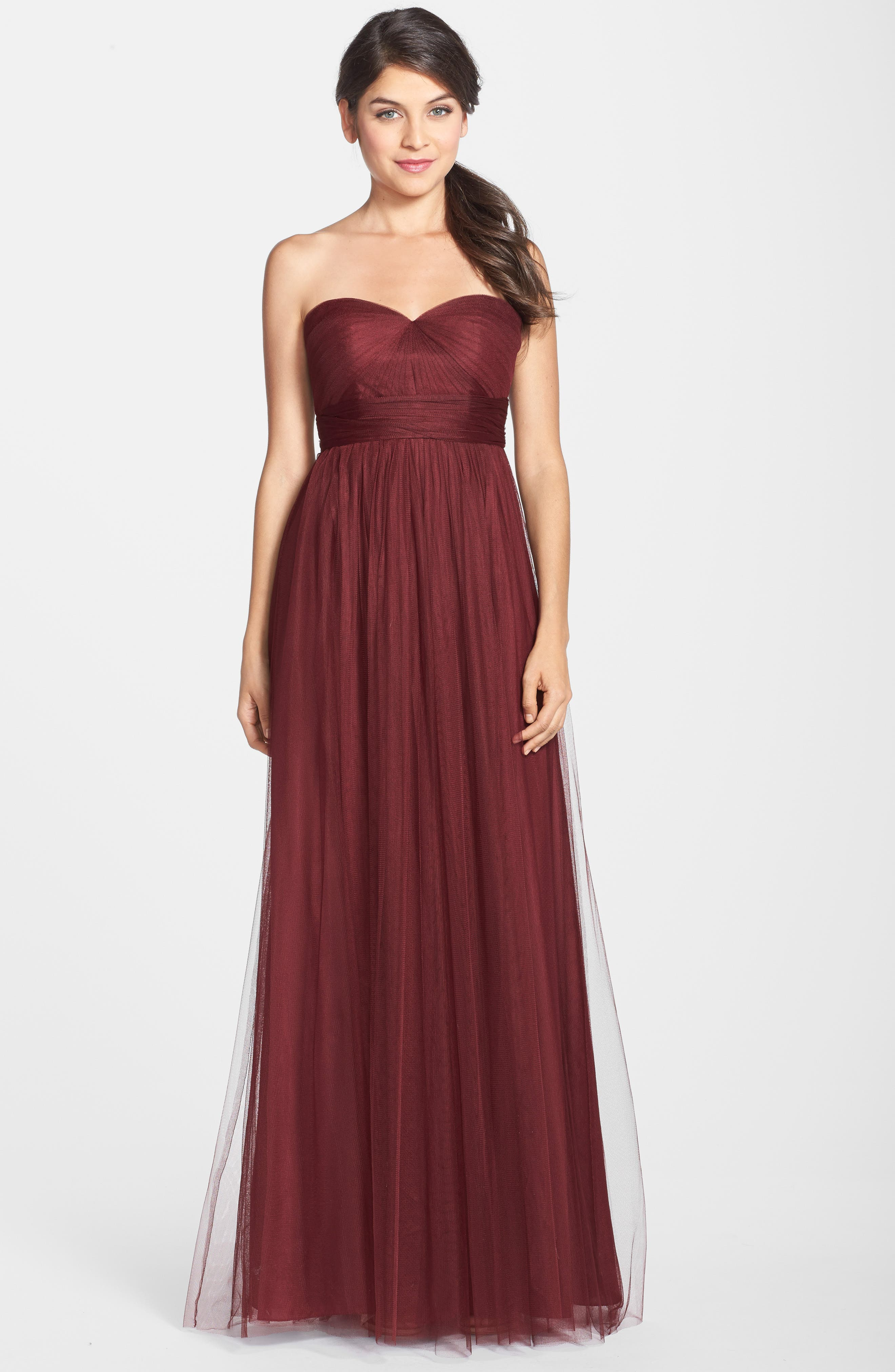 Annabelle Convertible Tulle Column Dress,                             Alternate thumbnail 125, color,