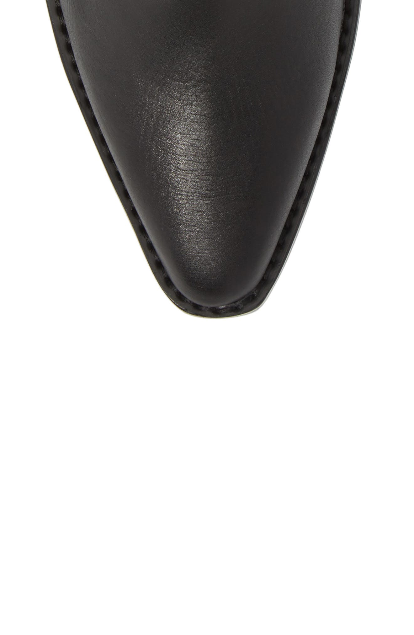 Simbai Western Boot,                             Alternate thumbnail 5, color,                             BLACK ALBANY LEATHER