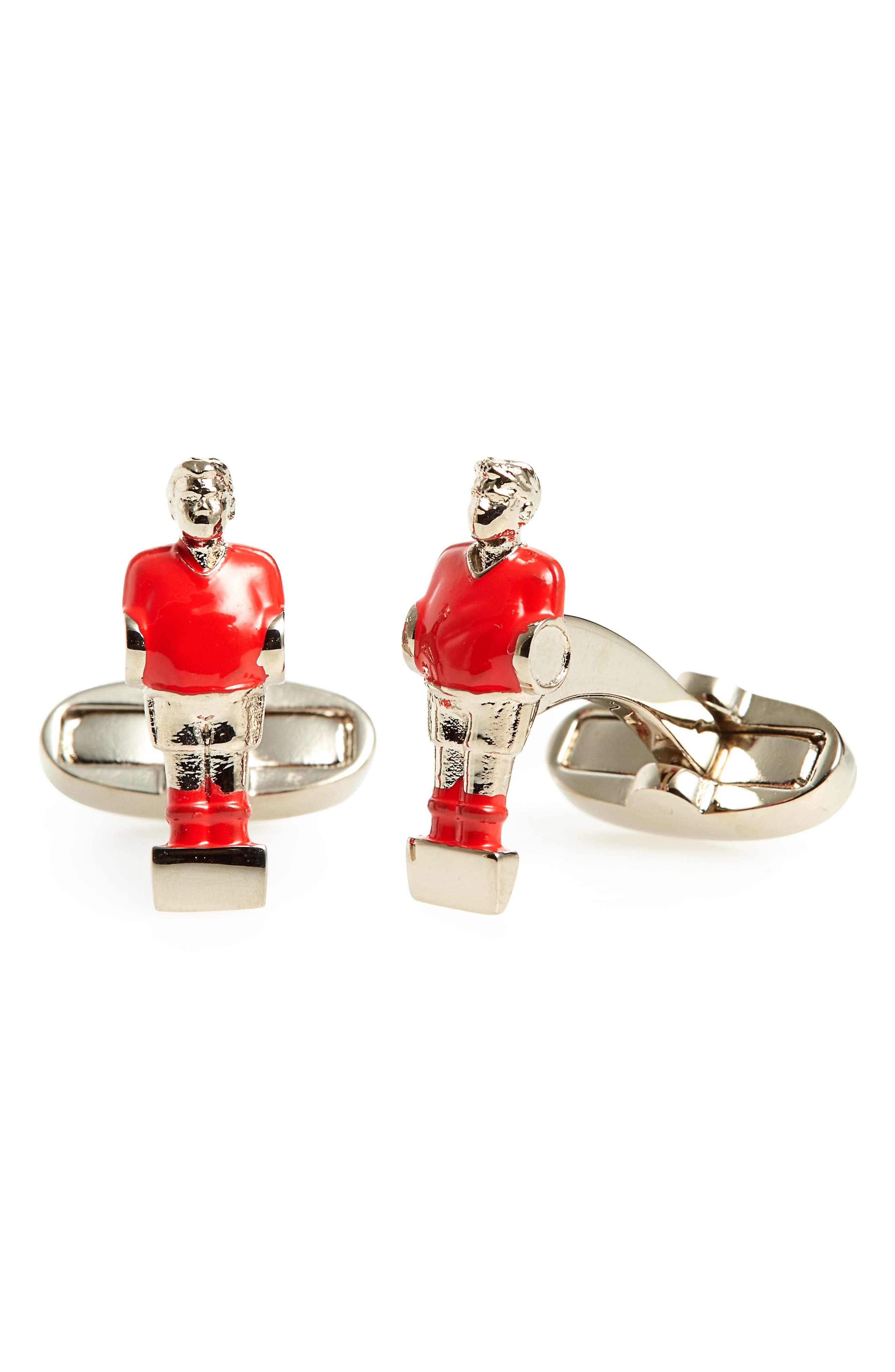 Foosball Cuff Links,                         Main,                         color, 25-RED