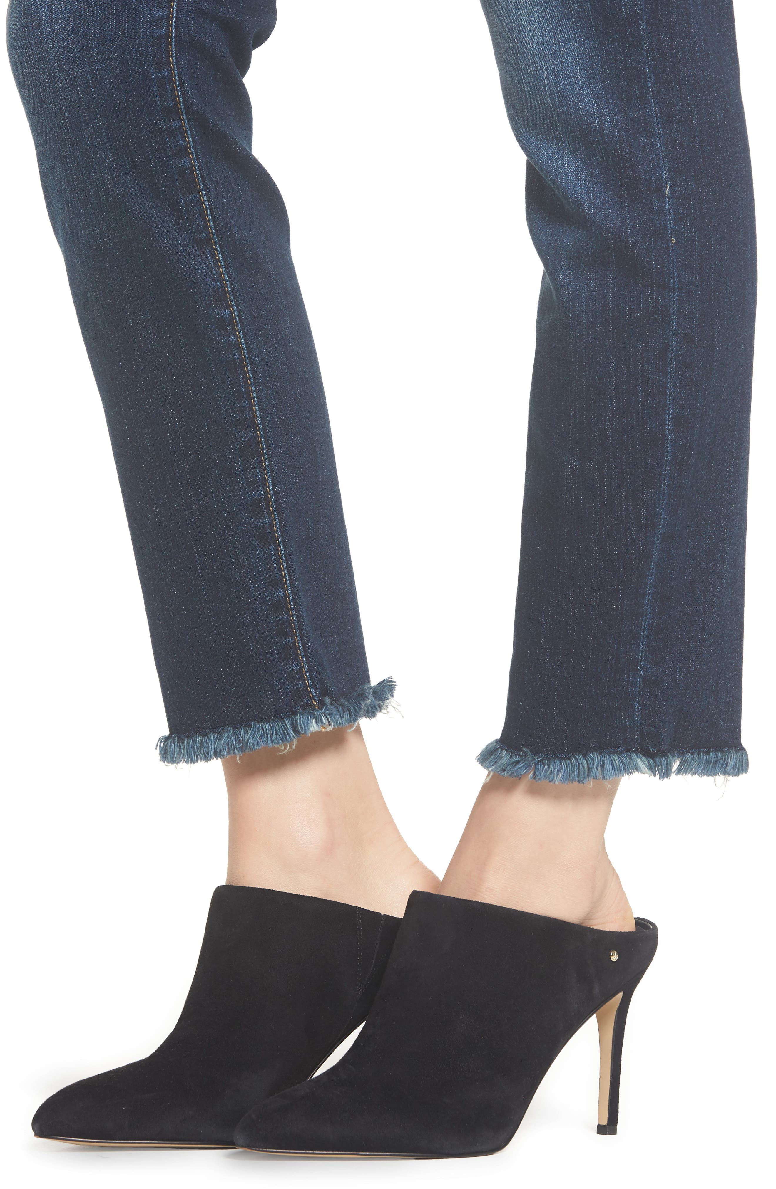 b(air) Roxanne Frayed Ankle Slim Jeans,                             Alternate thumbnail 4, color,                             AUTHENTIC FATE