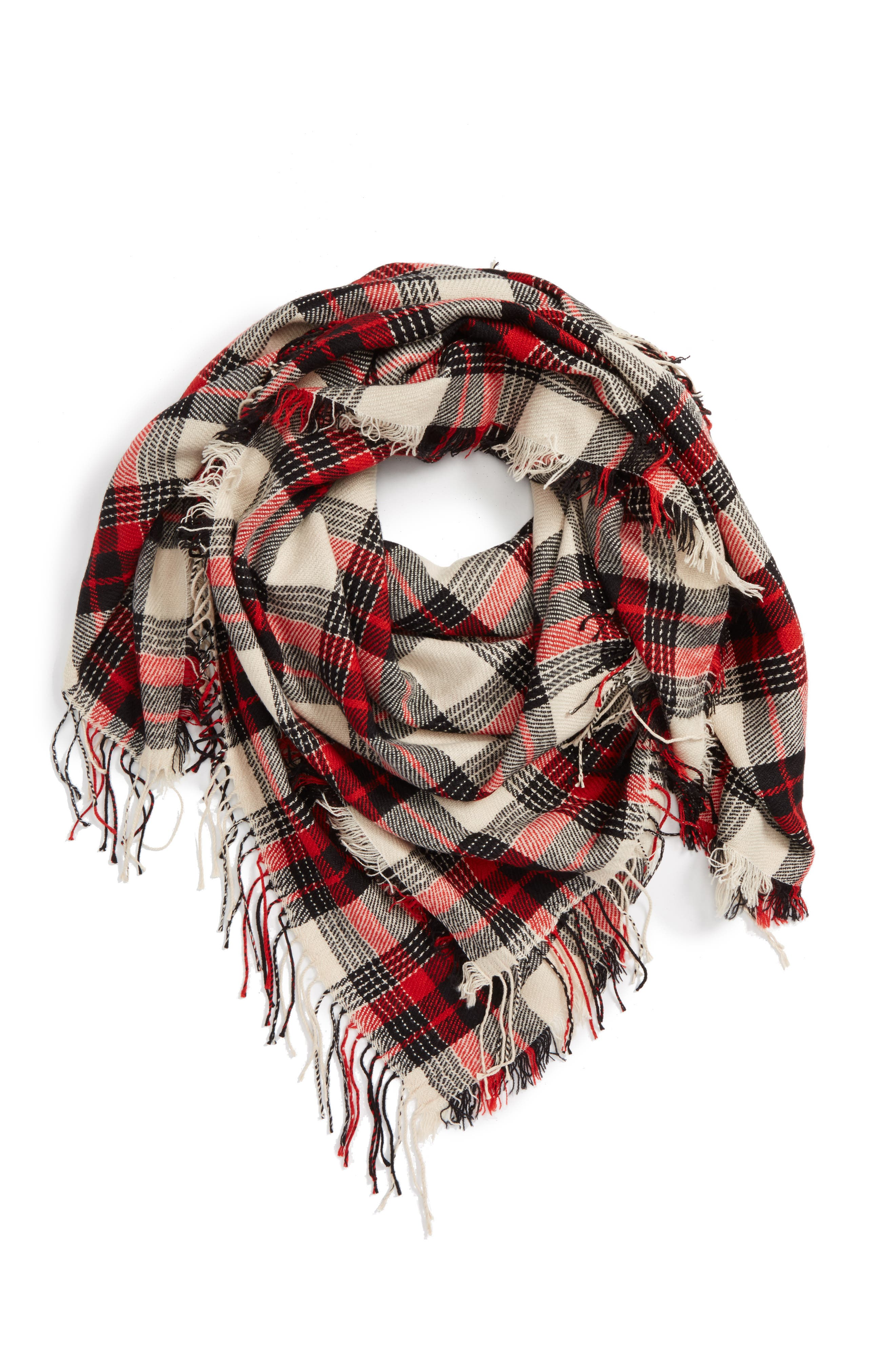 Plaid Scarf,                             Alternate thumbnail 2, color,                             020