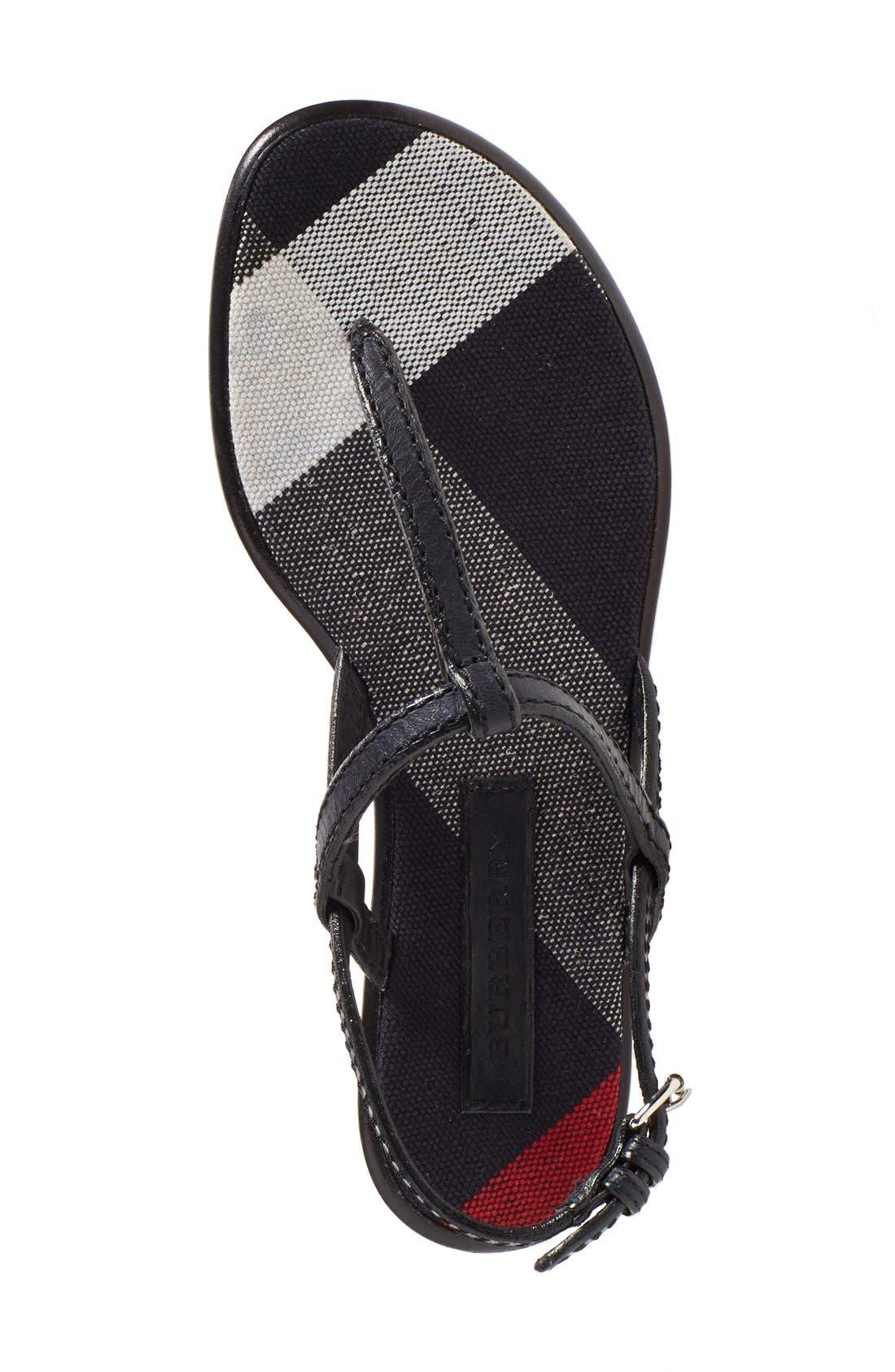 'Ingeldew' T-Strap Sandal,                             Alternate thumbnail 3, color,