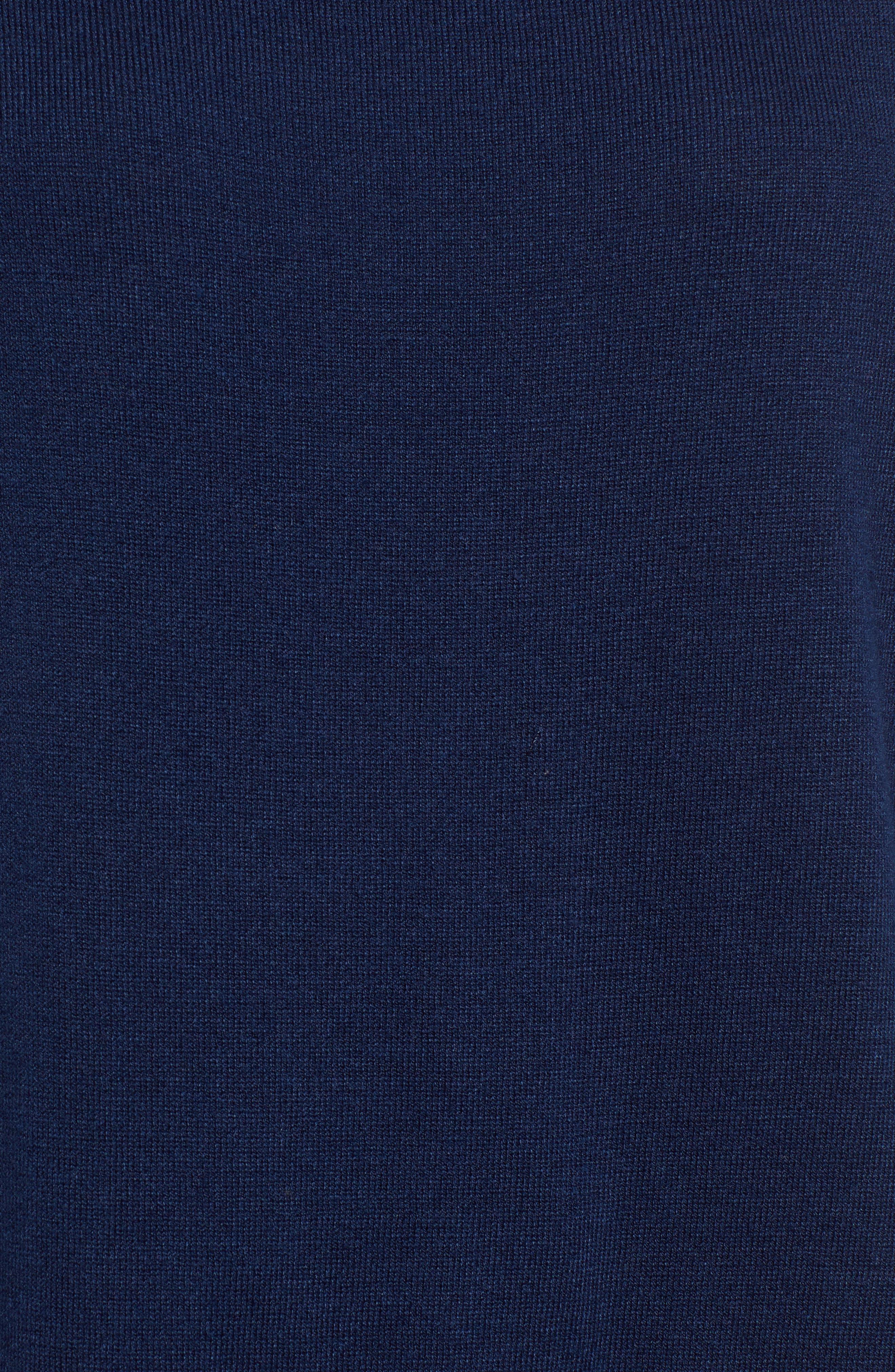 Back Zip Crewneck Sweater,                             Alternate thumbnail 5, color,                             476