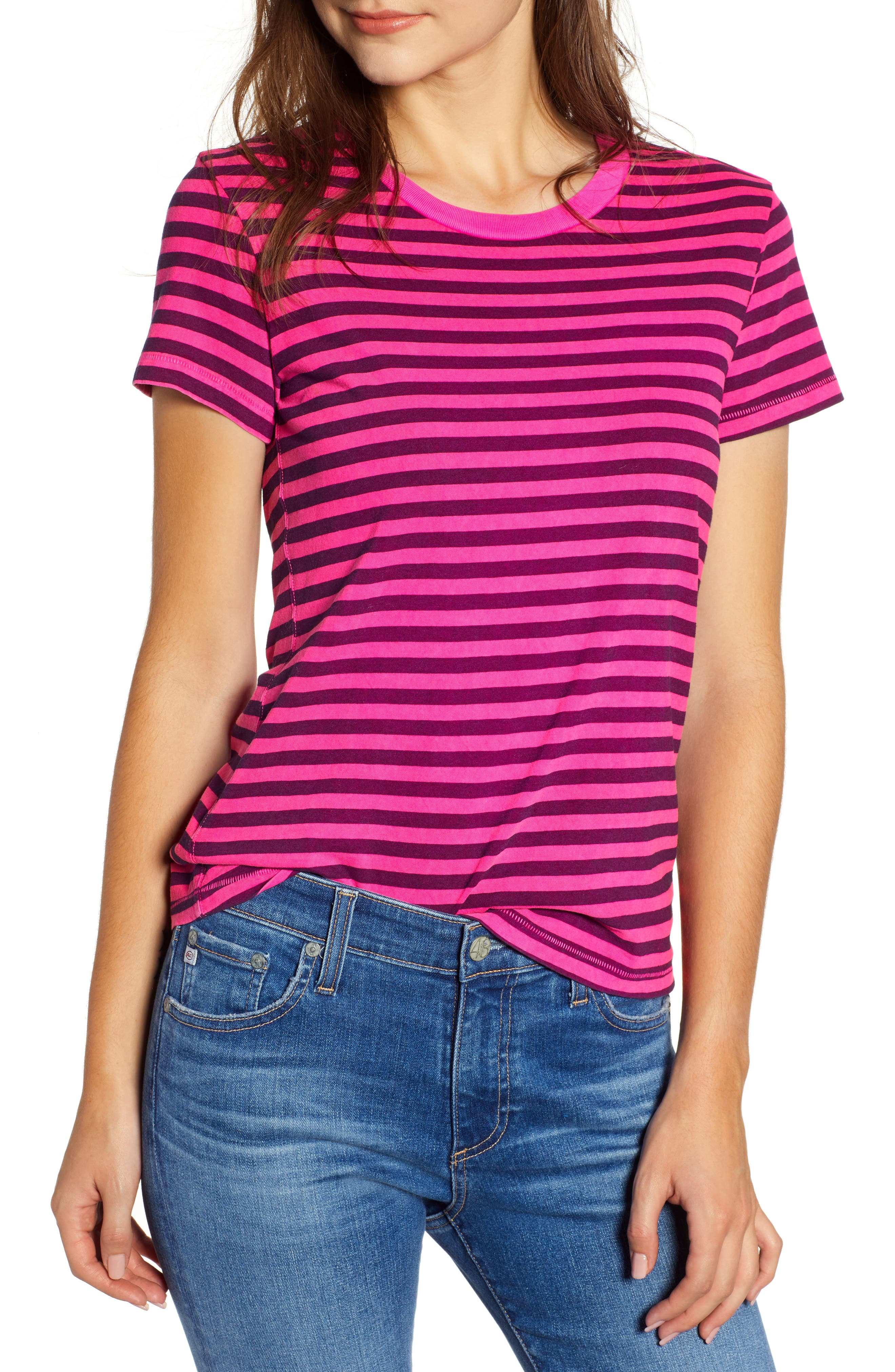 Neon Stripe Baby Tee,                             Main thumbnail 1, color,                             650
