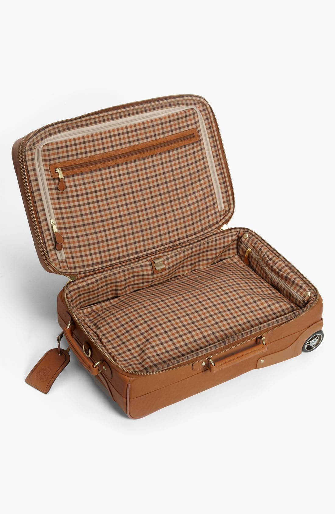 'Pontoon II' Leather Carry-On Suitcase,                             Alternate thumbnail 4, color,                             260