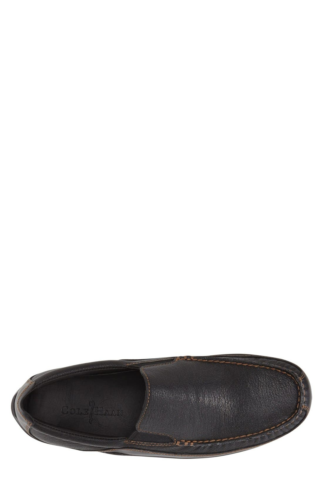 'Tucker Venetian' Loafer,                             Alternate thumbnail 2, color,                             BLACK