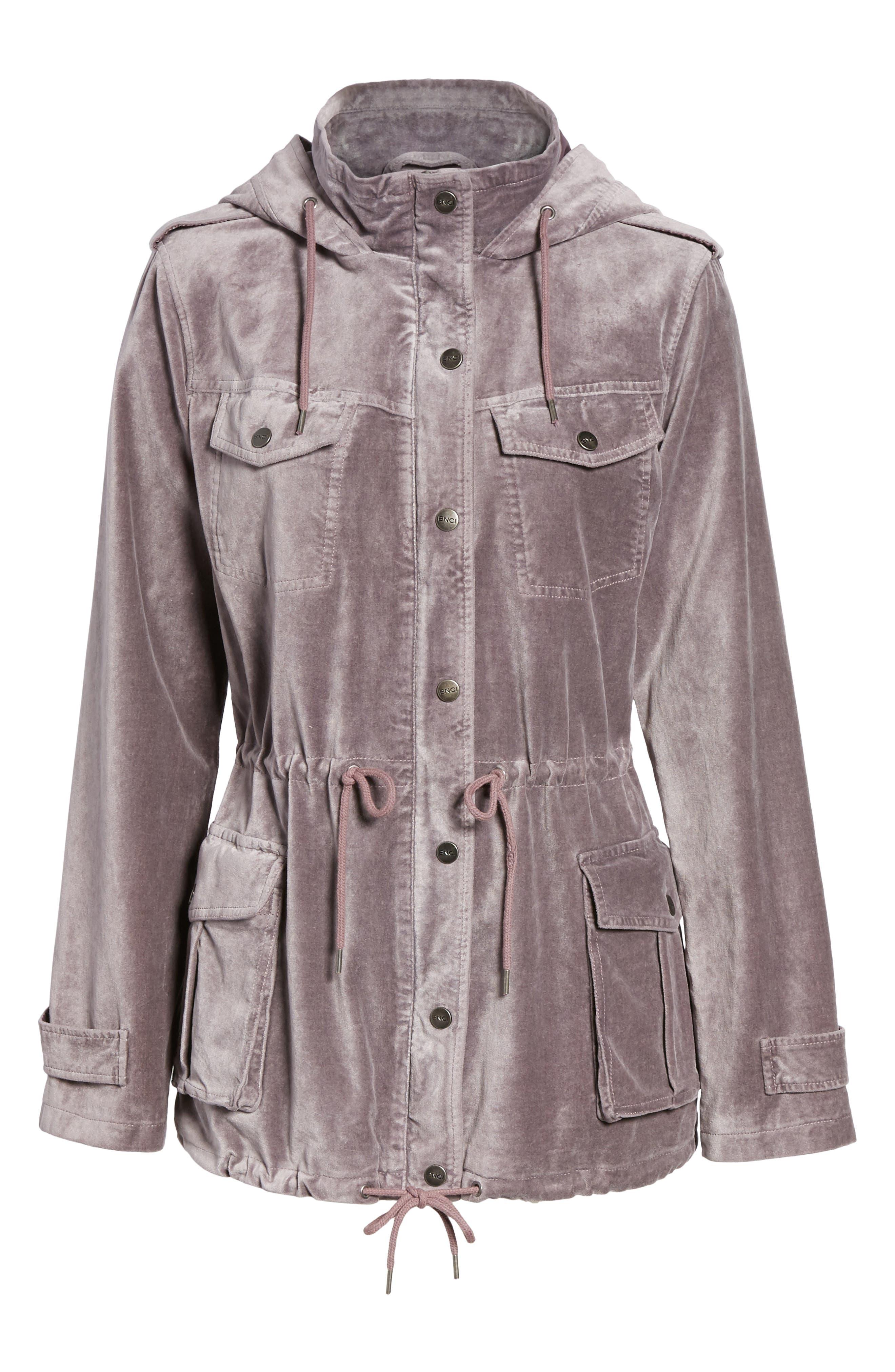 BNCI Cotton Velveteen Hooded Anorak Jacket,                             Alternate thumbnail 10, color,