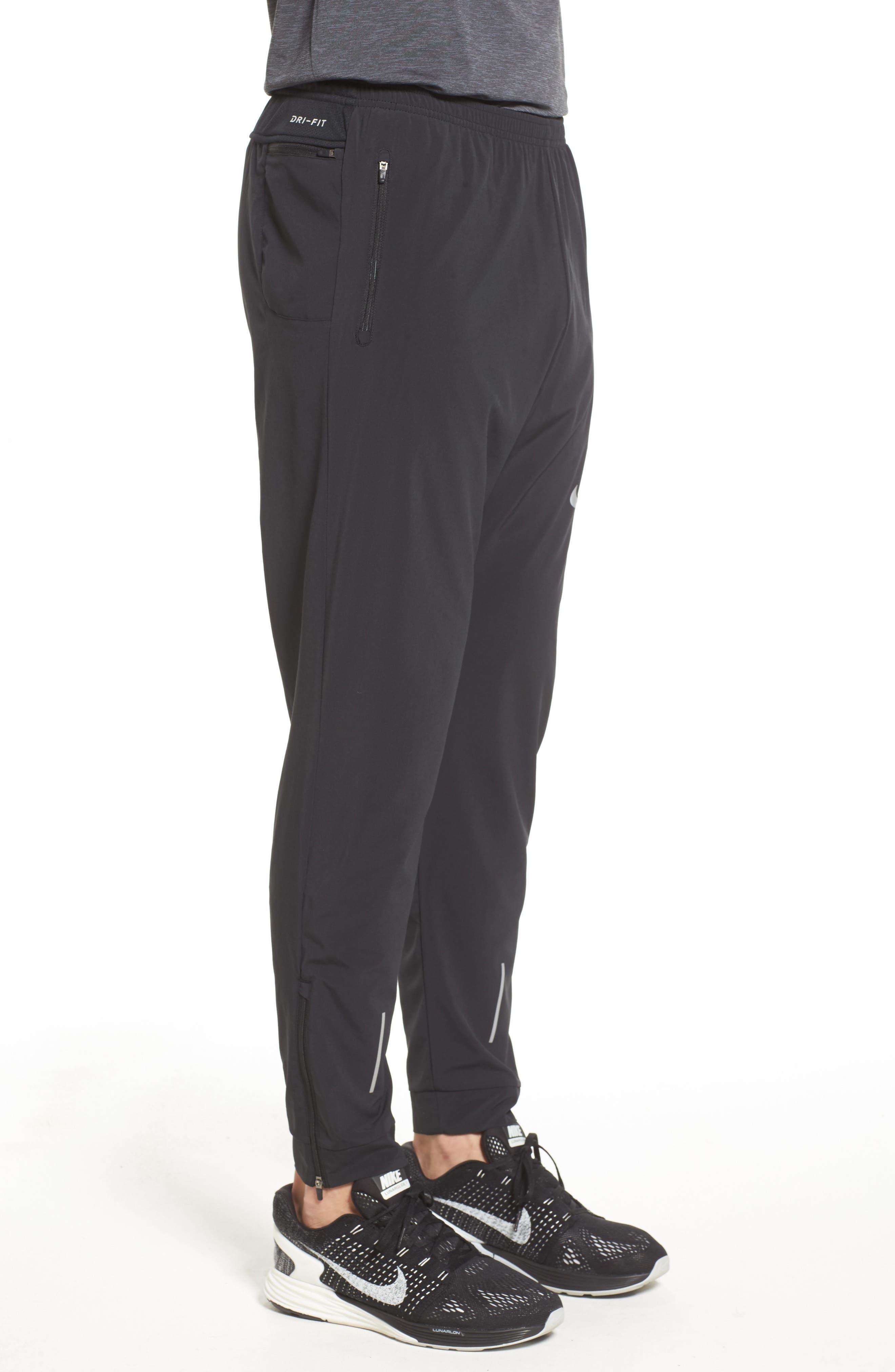 Essential Flex Running Pants,                             Alternate thumbnail 3, color,                             BLACK