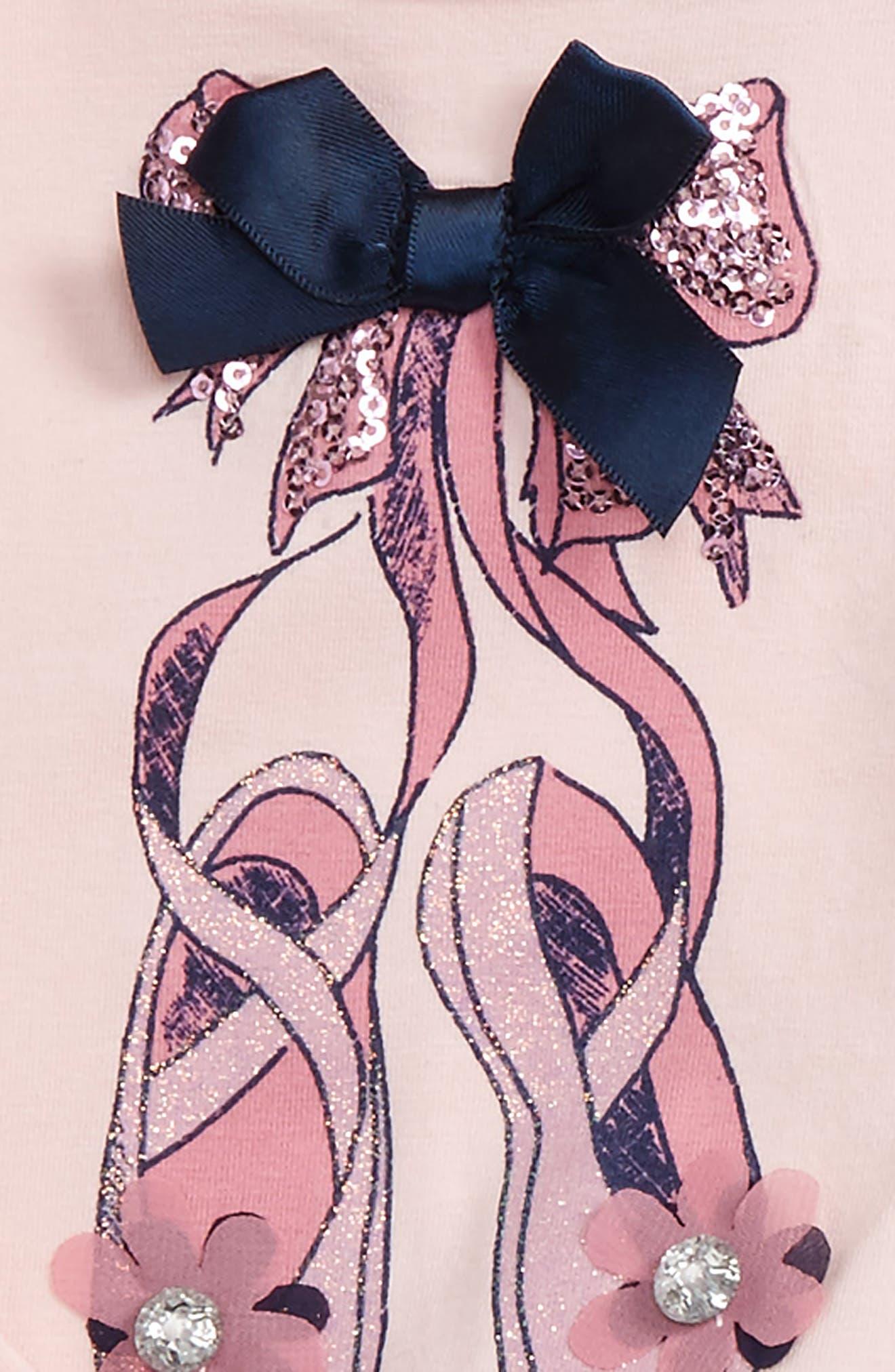 Ballet Slipper Top & Glitter Tutu Skirt Leggings,                         Main,                         color, 674