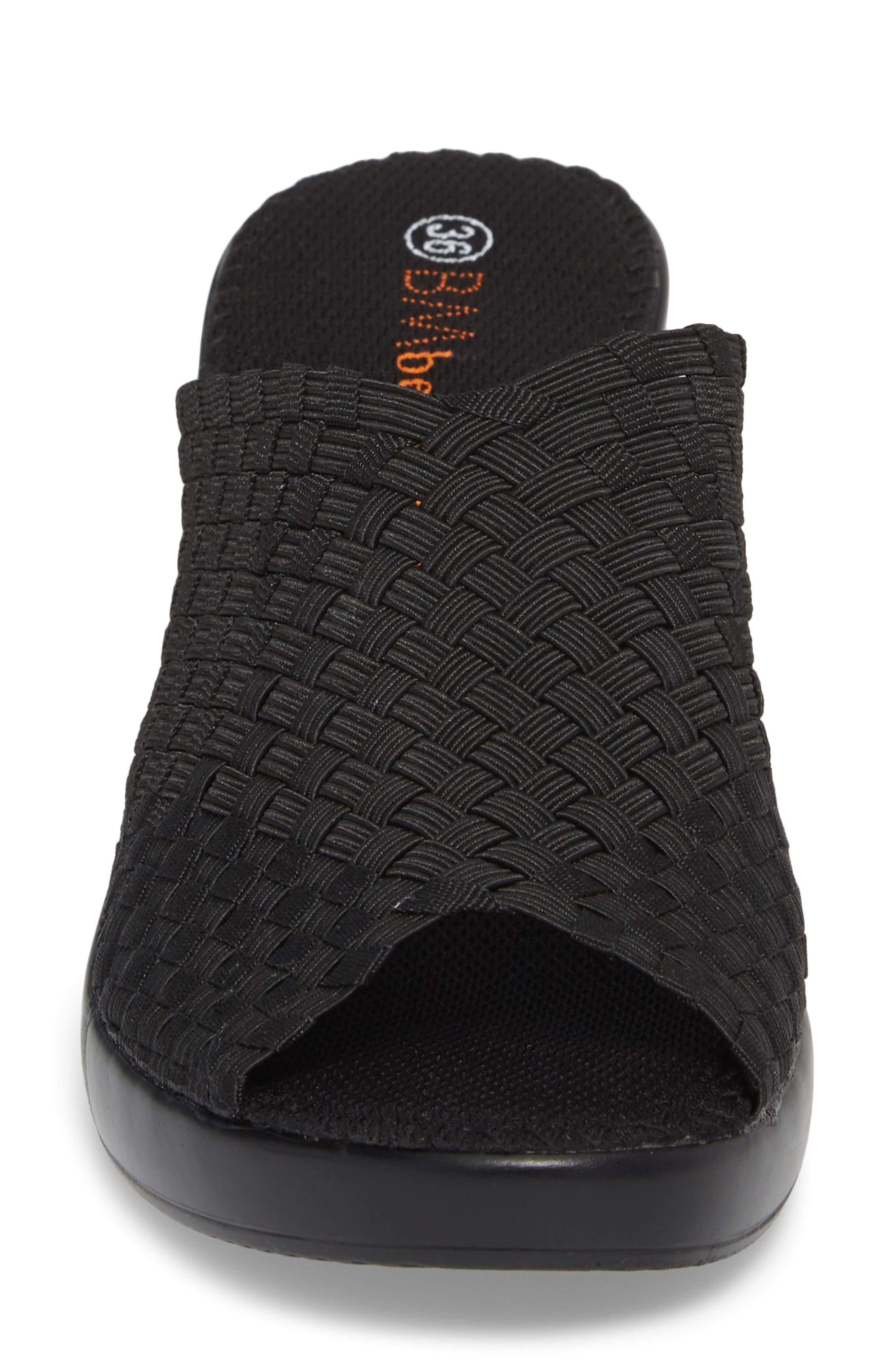 Sun Texas Sandal,                             Alternate thumbnail 4, color,                             BLACK FABRIC