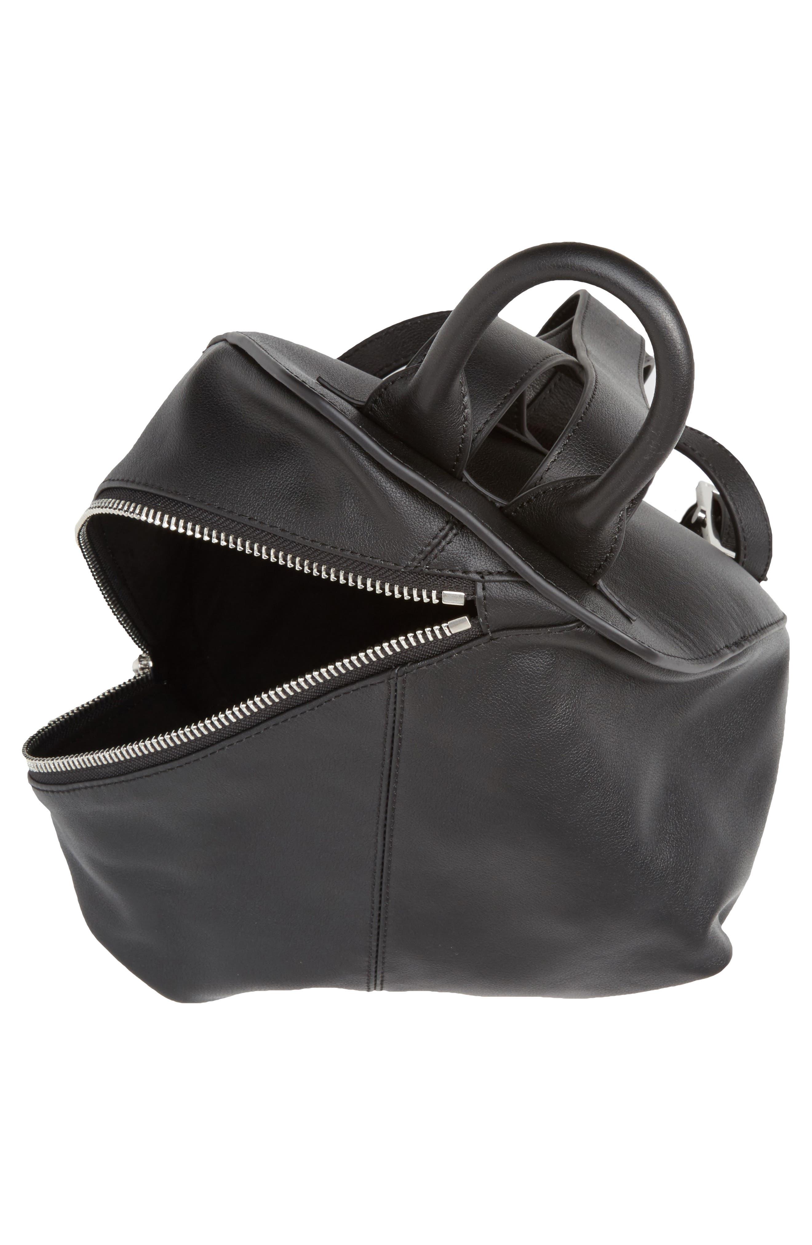 Koenji Leather Backpack,                             Alternate thumbnail 4, color,                             001