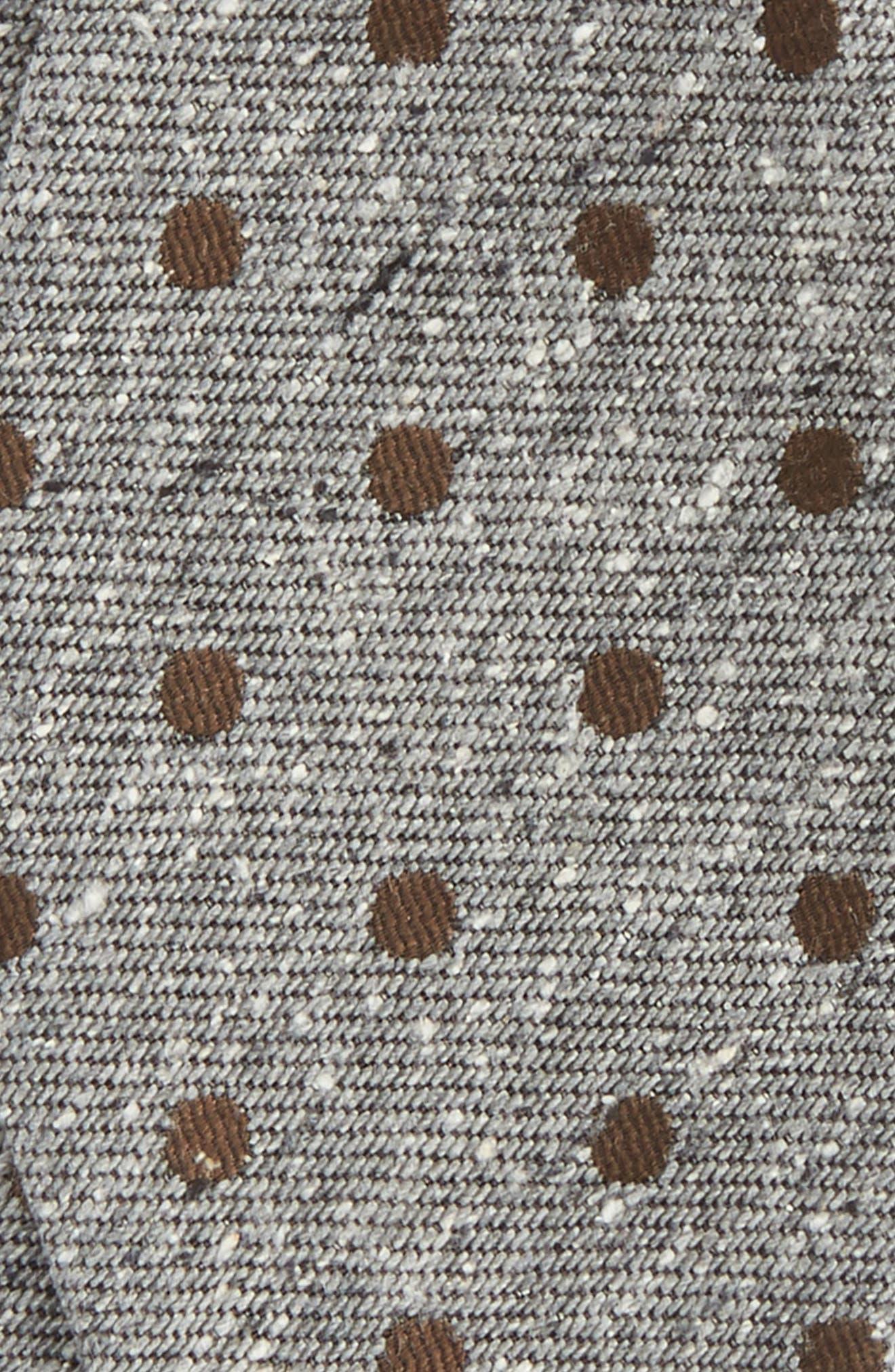 Revolve Dots Silk Bow Tie,                             Alternate thumbnail 3, color,                             200