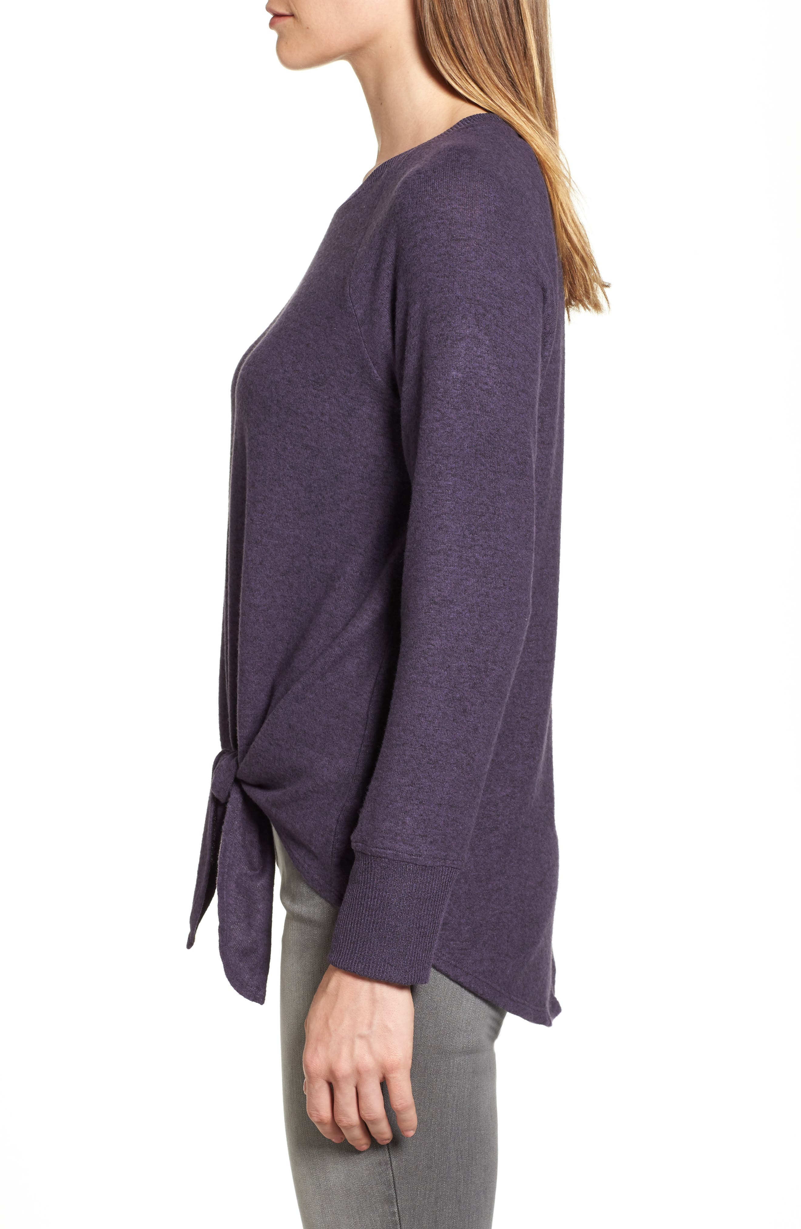 Tie Front Cozy Fleece Pullover,                             Alternate thumbnail 25, color,