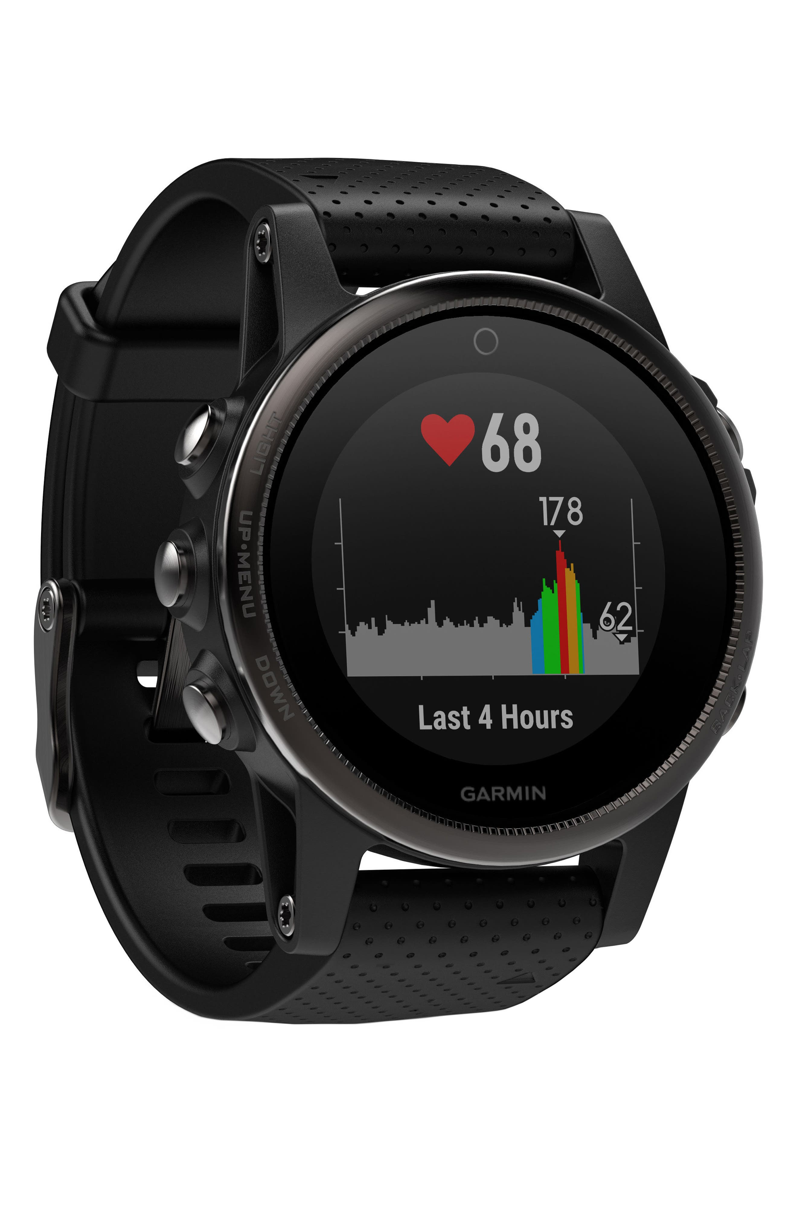 fenix<sup>®</sup> 5S Sapphire Premium Multisport GPS Watch, 42mm,                             Alternate thumbnail 4, color,                             001