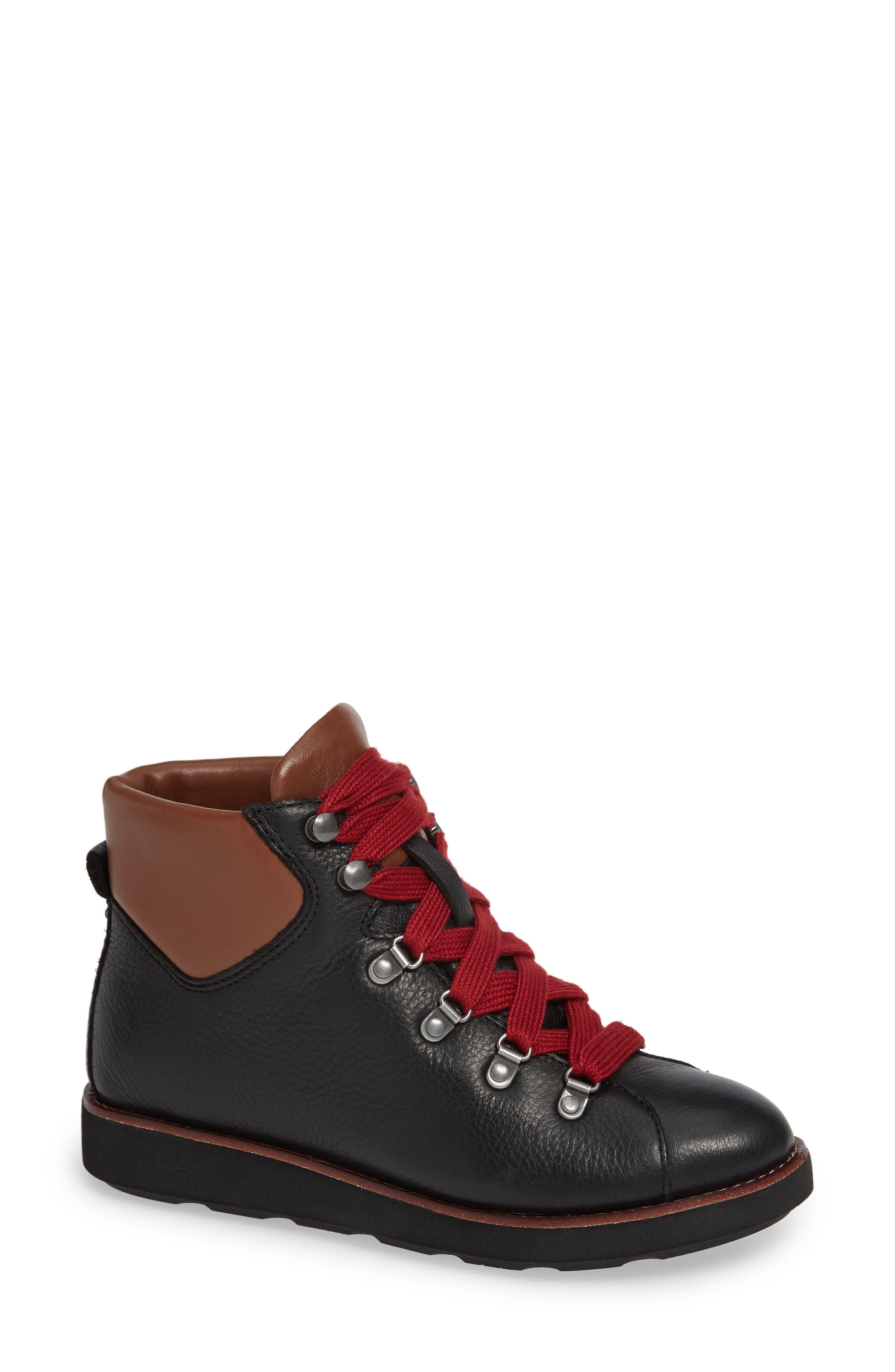 Bionica Natick Lace-Up Boot, Black