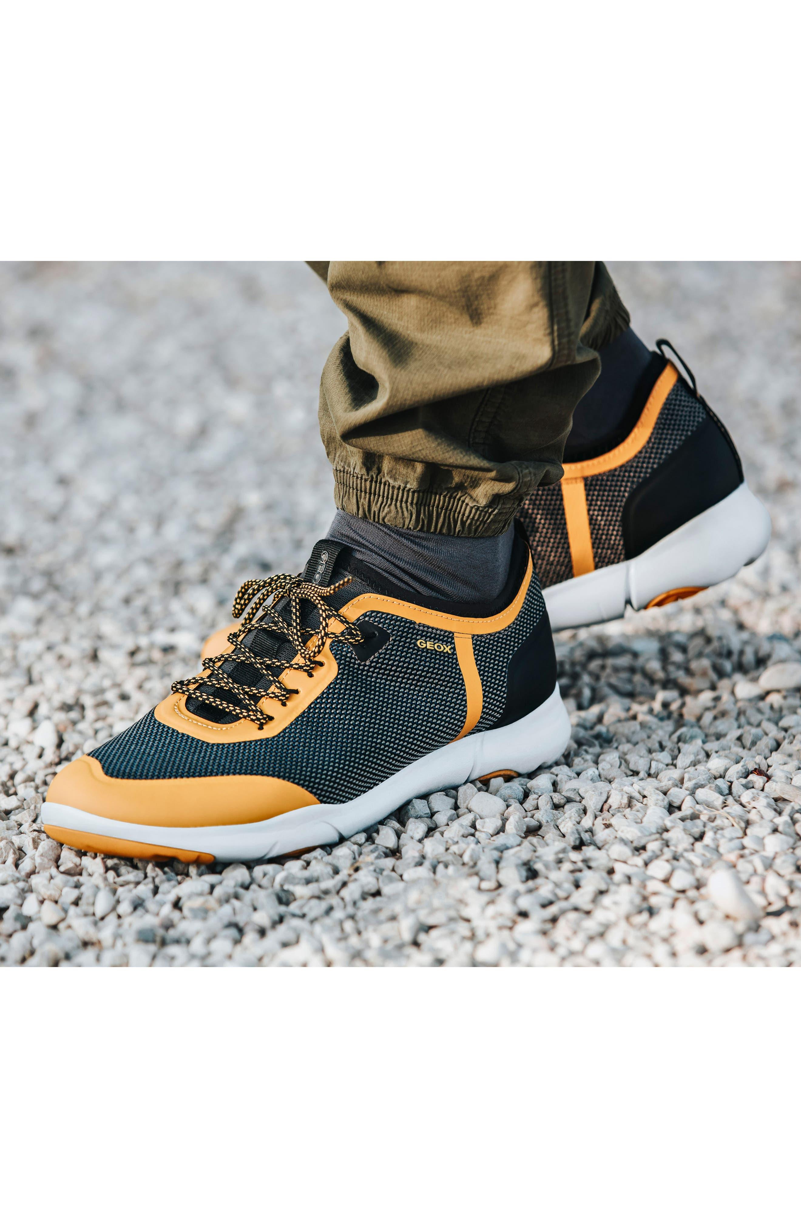 Nebula X 3 Low Top Sneaker,                             Alternate thumbnail 7, color,                             BLACK LEATHER