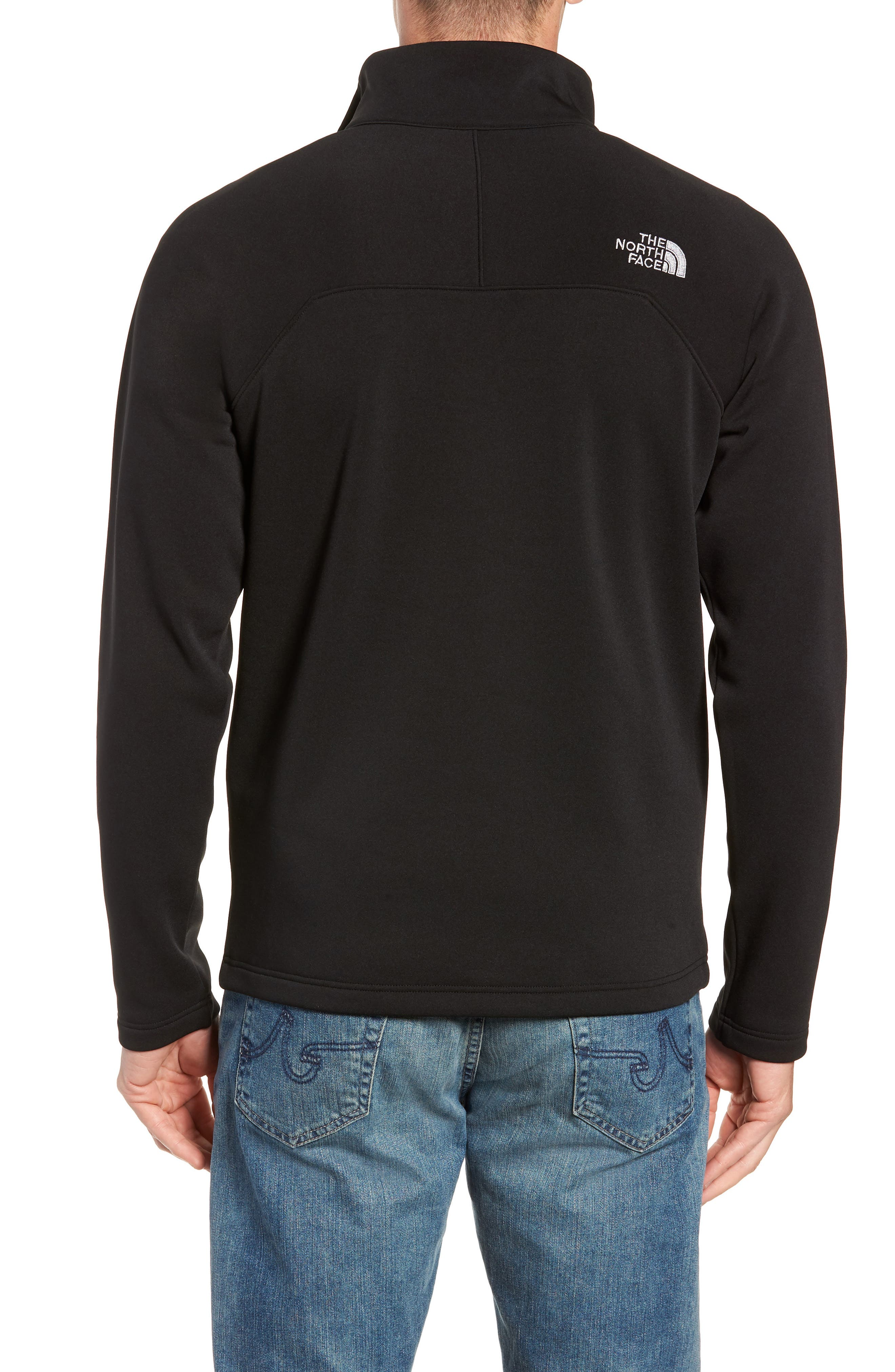 THE NORTH FACE,                             Tenacious Quarter Zip Pullover,                             Alternate thumbnail 2, color,                             001