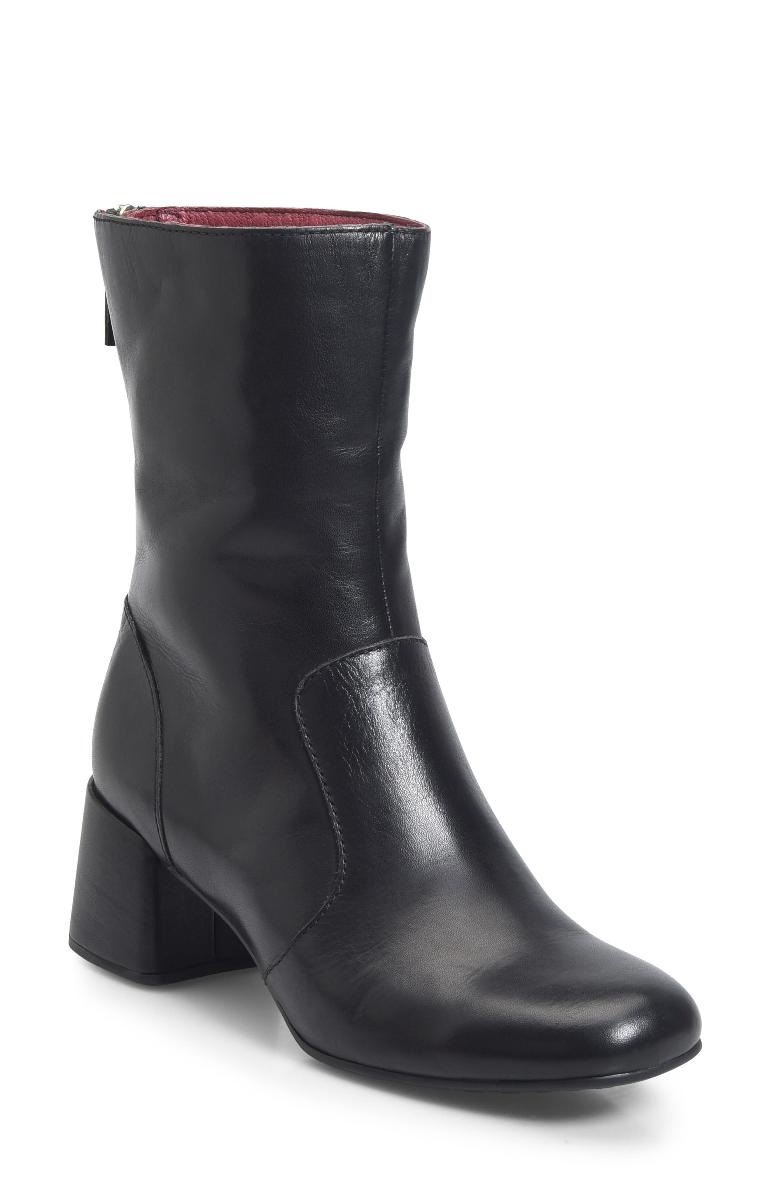Florence Bootie,                         Main,                         color, BLACK LEATHER