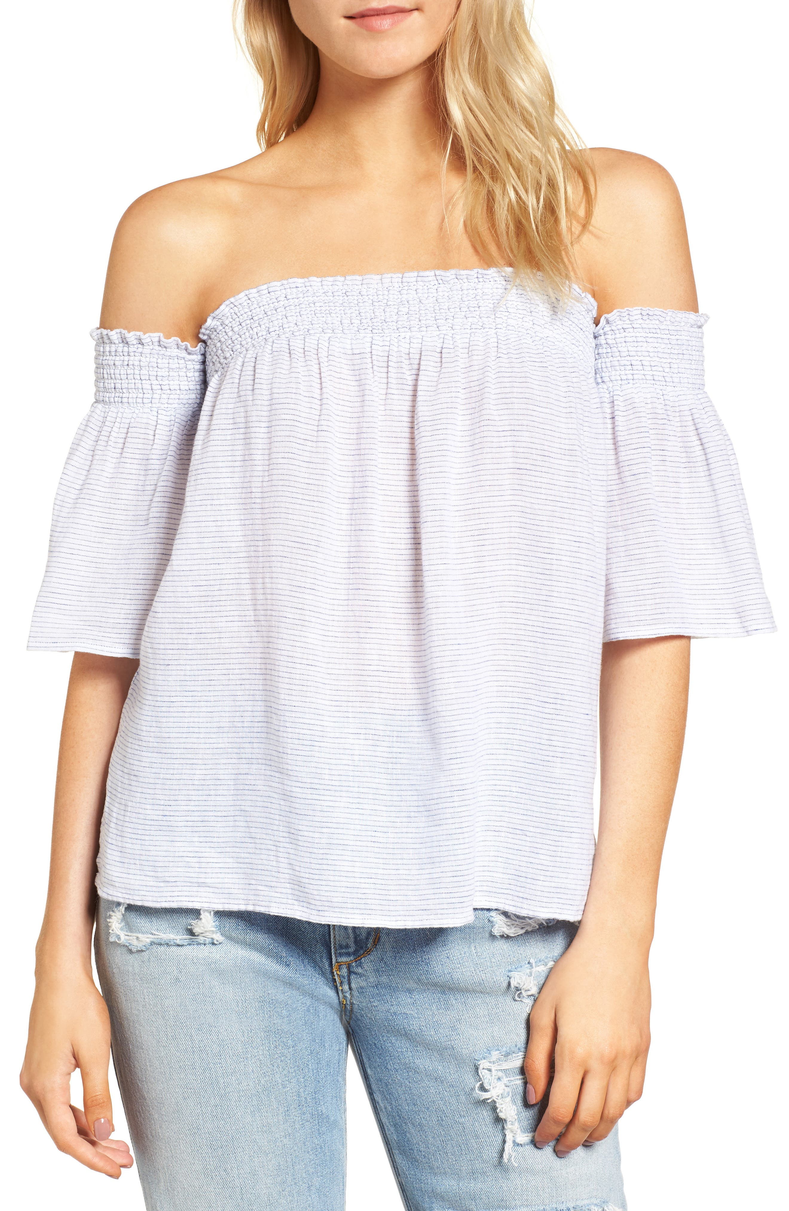 Isabelle Off the Shoulder Top,                             Main thumbnail 1, color,