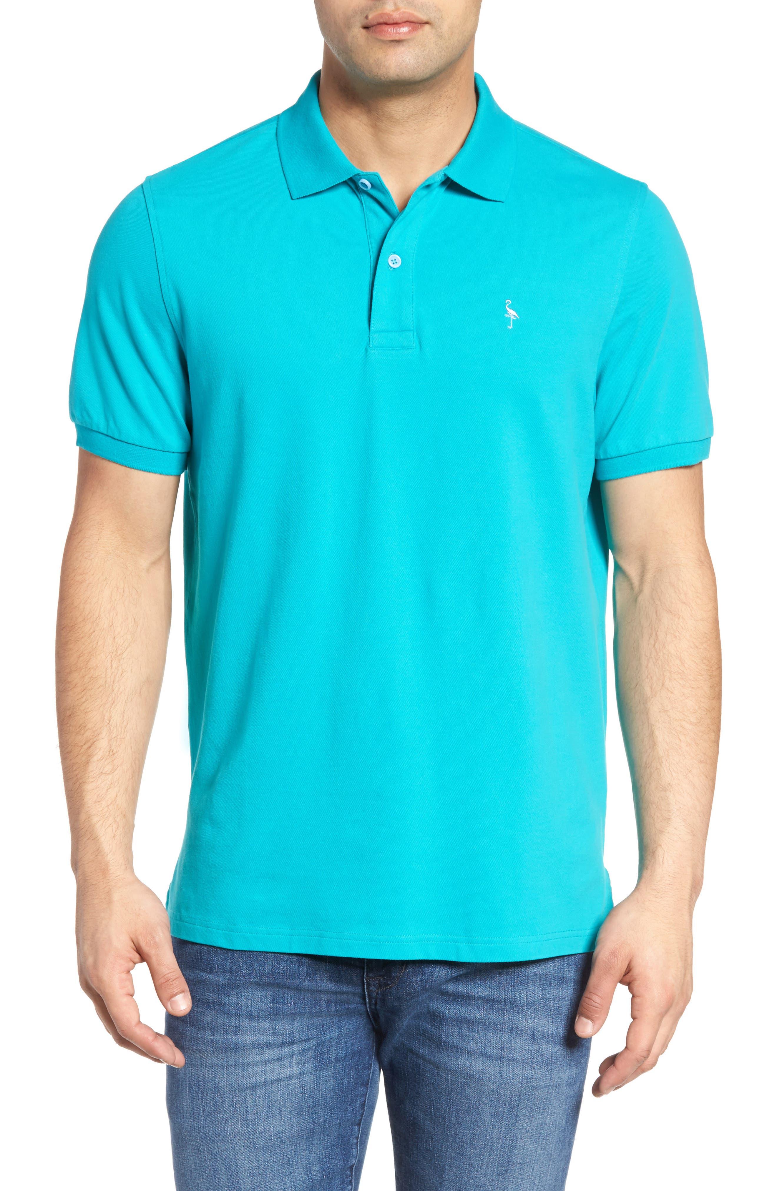 Stretch Piqué Cotton Polo,                         Main,                         color, 390