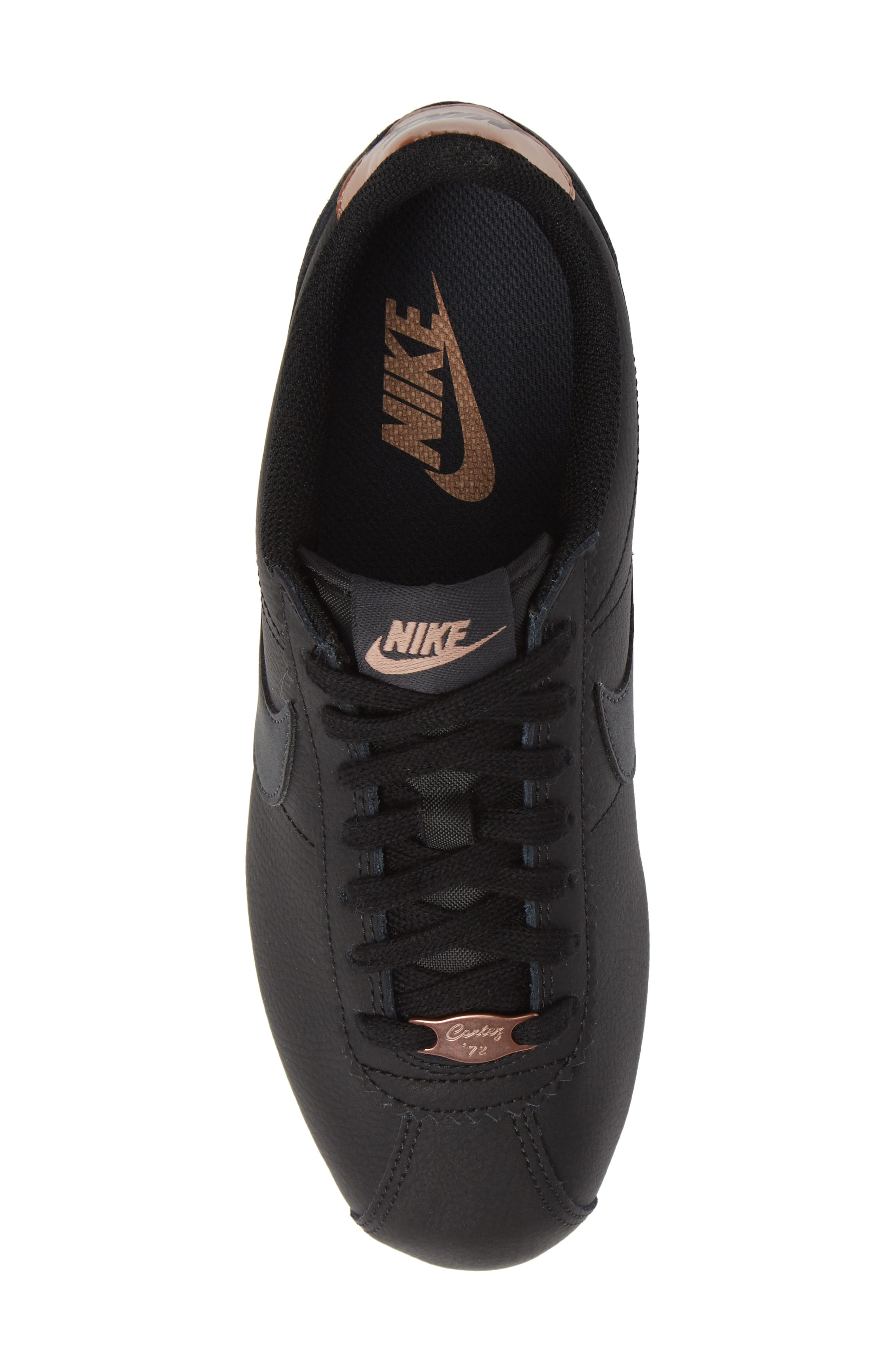 Classic Cortez Sneaker,                             Alternate thumbnail 5, color,                             BLACK/ METALLIC RED BRONZE