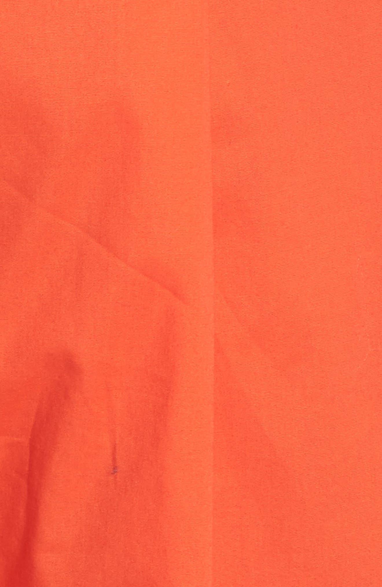 Ruffle One-Shoulder Crop Jumpsuit,                             Alternate thumbnail 5, color,                             BLOOD ORANGE