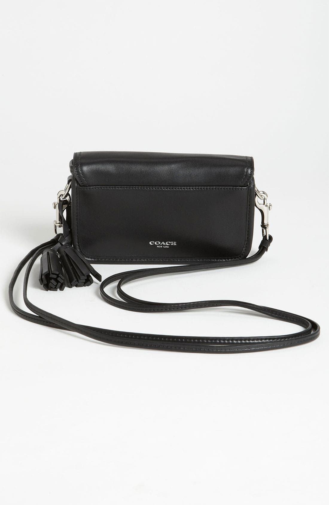 Leather Crossbody Bag,                             Alternate thumbnail 3, color,                             045