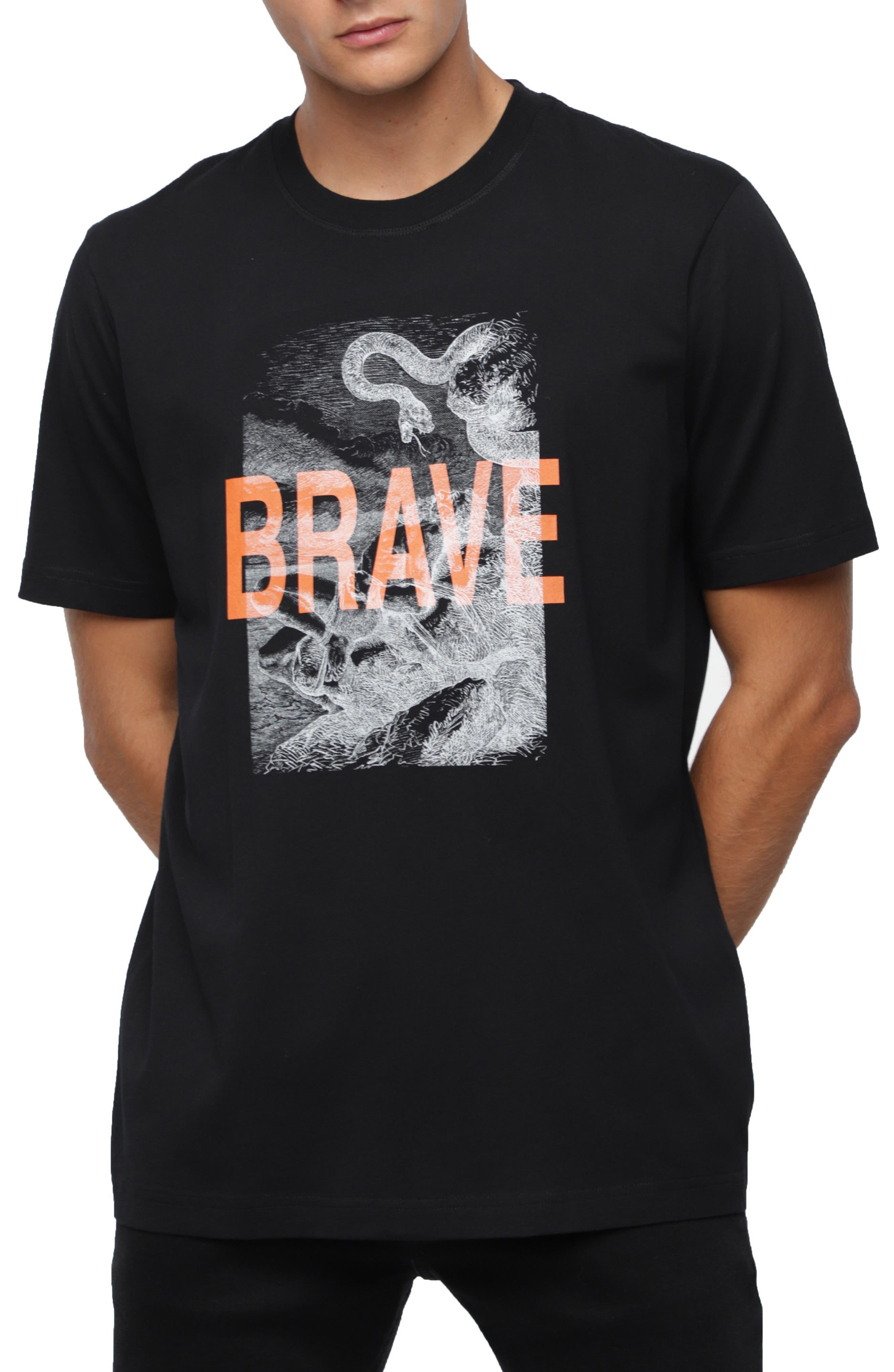 T-JUST-XZ Short Sleeve T-shirt,                             Main thumbnail 1, color,                             BLACK