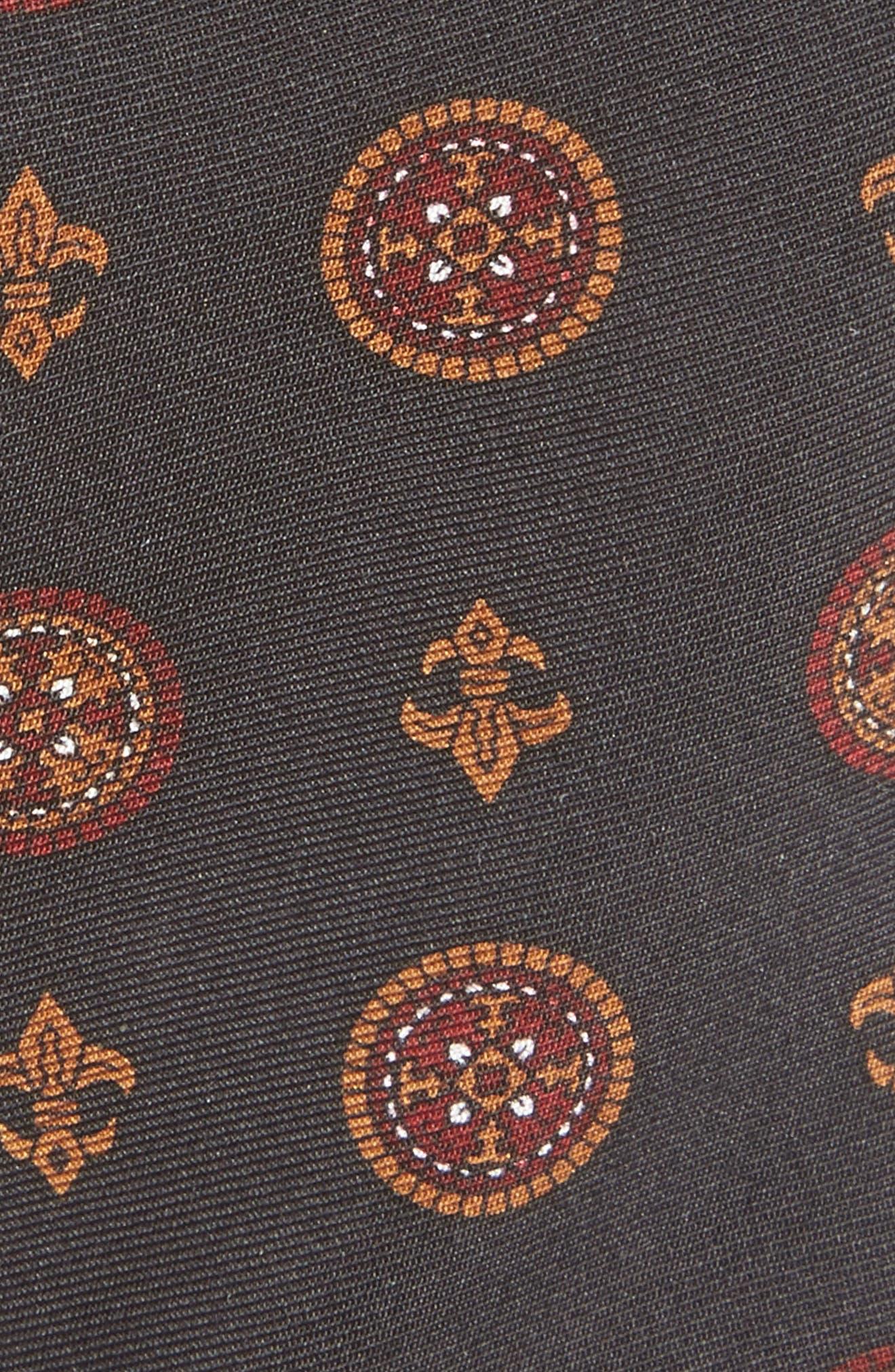 Print Silk Skinny Tie,                             Alternate thumbnail 2, color,                             001
