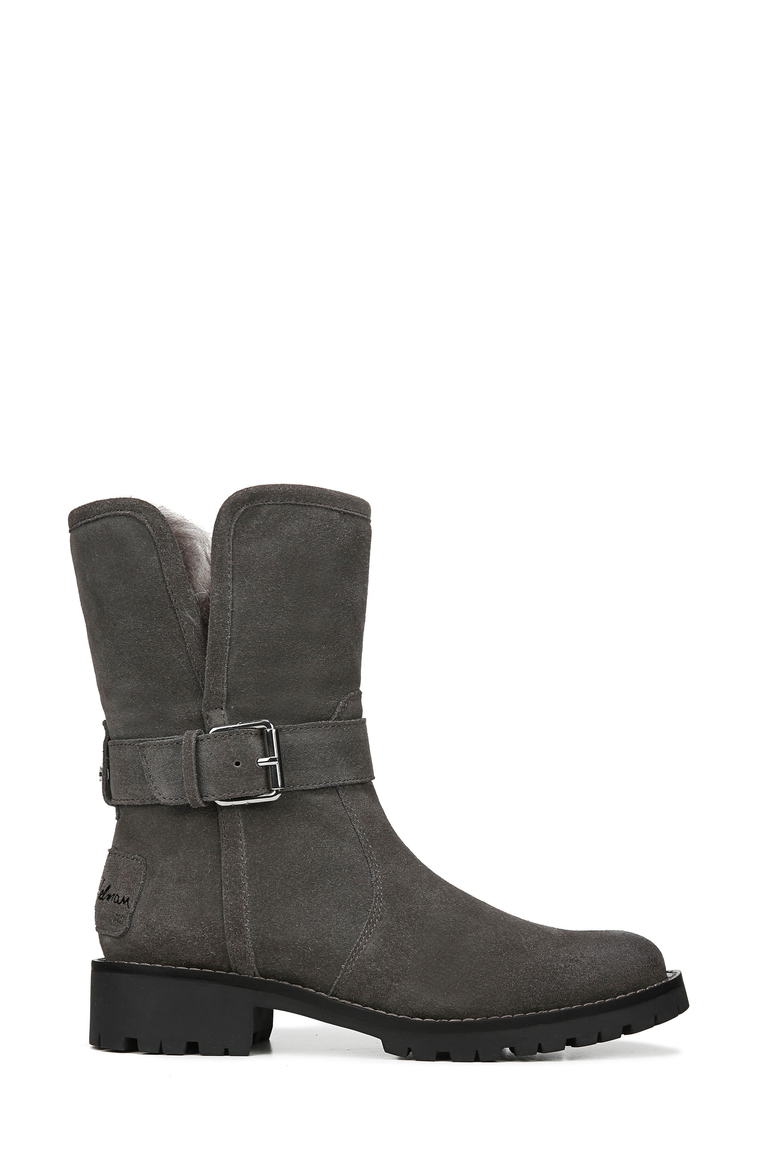 Jeanie Boot,                             Alternate thumbnail 3, color,                             STEEL GREY SUEDE